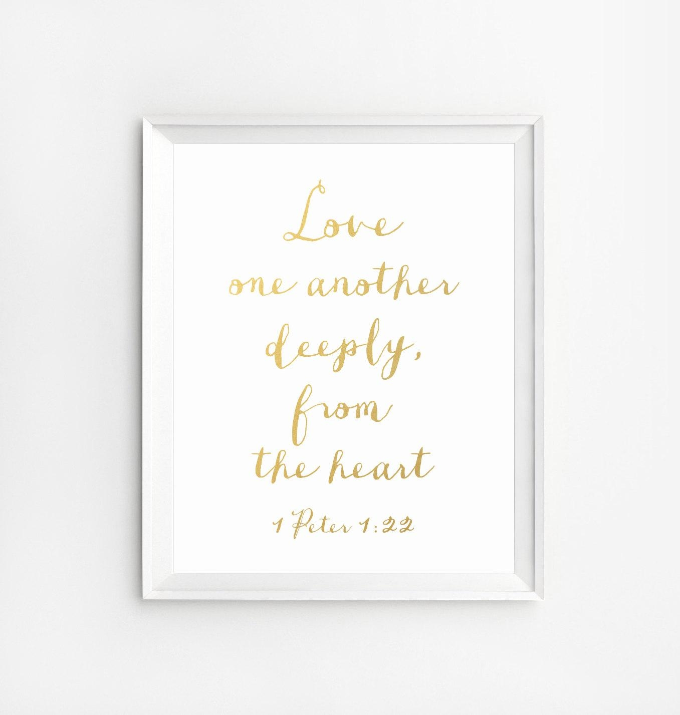 Bible Verse Wall Art Decor Scripture Print Gold Gold Foil Inside Grace Wall Art (View 15 of 20)