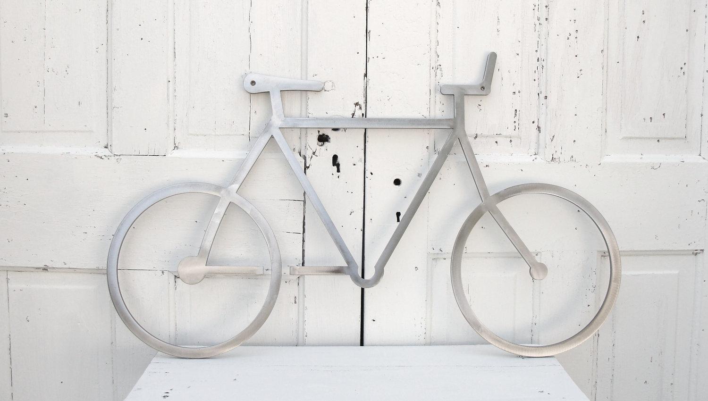 Bicycle Wall Art Bike Wall Art Cyclist Gift Modern Wall Art Pertaining To Metal Bicycle Wall Art (Image 4 of 20)
