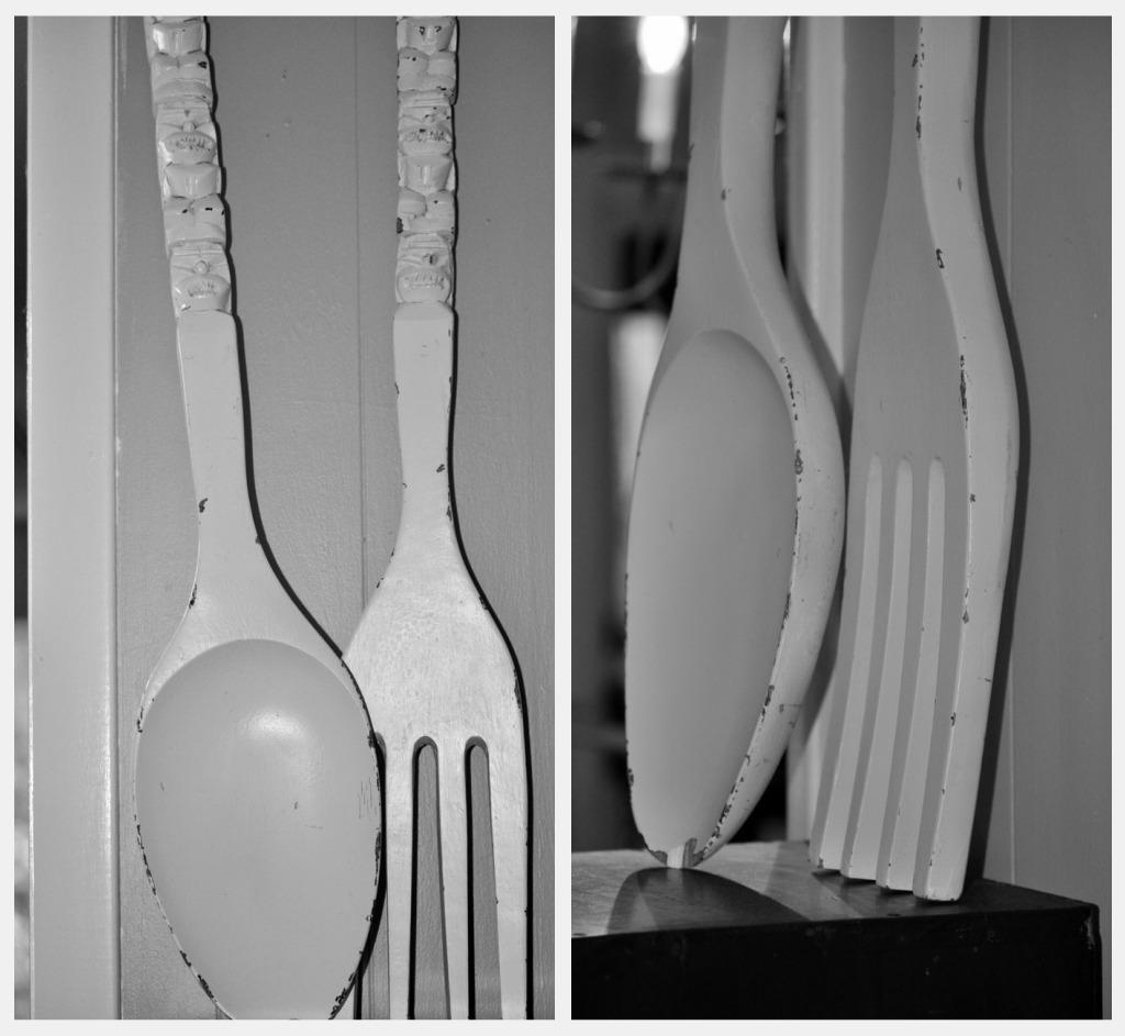Big Fork And Spoon Wall Decor Large : Big Fork And Spoon Wall With Big Spoon And Fork Wall Decor (Image 3 of 20)