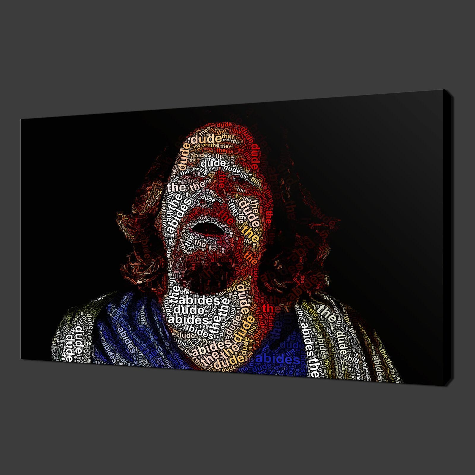 Big Lebowski Film Typography Canvas Wall Art Pictures Prints 20 Inside Typography Canvas Wall Art (Image 9 of 20)