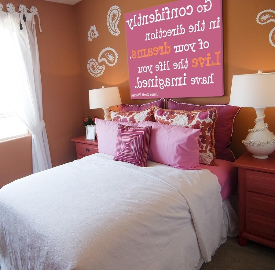 Big Wall Art Teen Girl Bedroom Decorating Ideas Ideas For Teen Inside Wall Art For Teens (View 8 of 20)