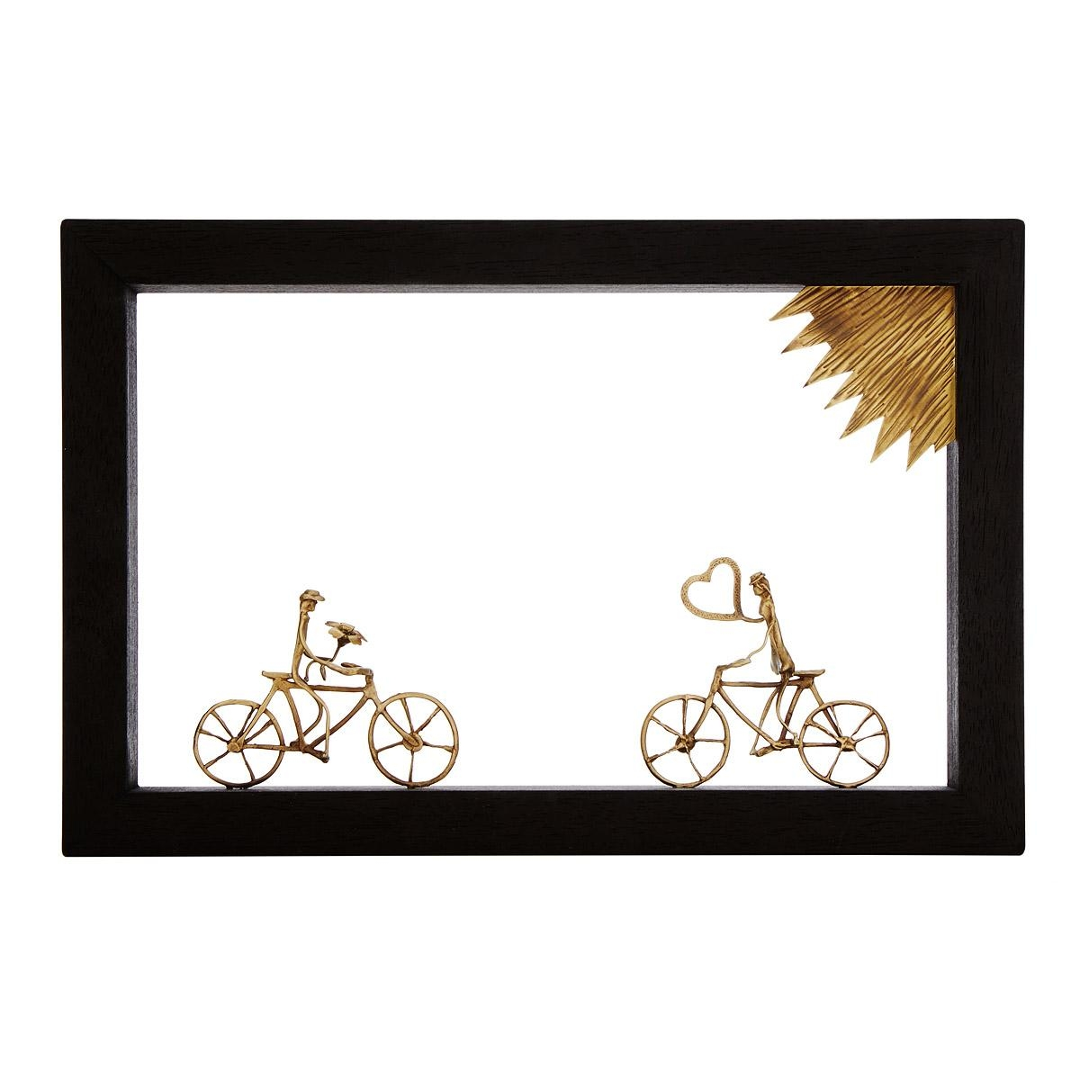 Bike Lovers Wall Sculpture | Bike Art | Uncommongoods With Bicycle Metal Wall Art (View 18 of 20)