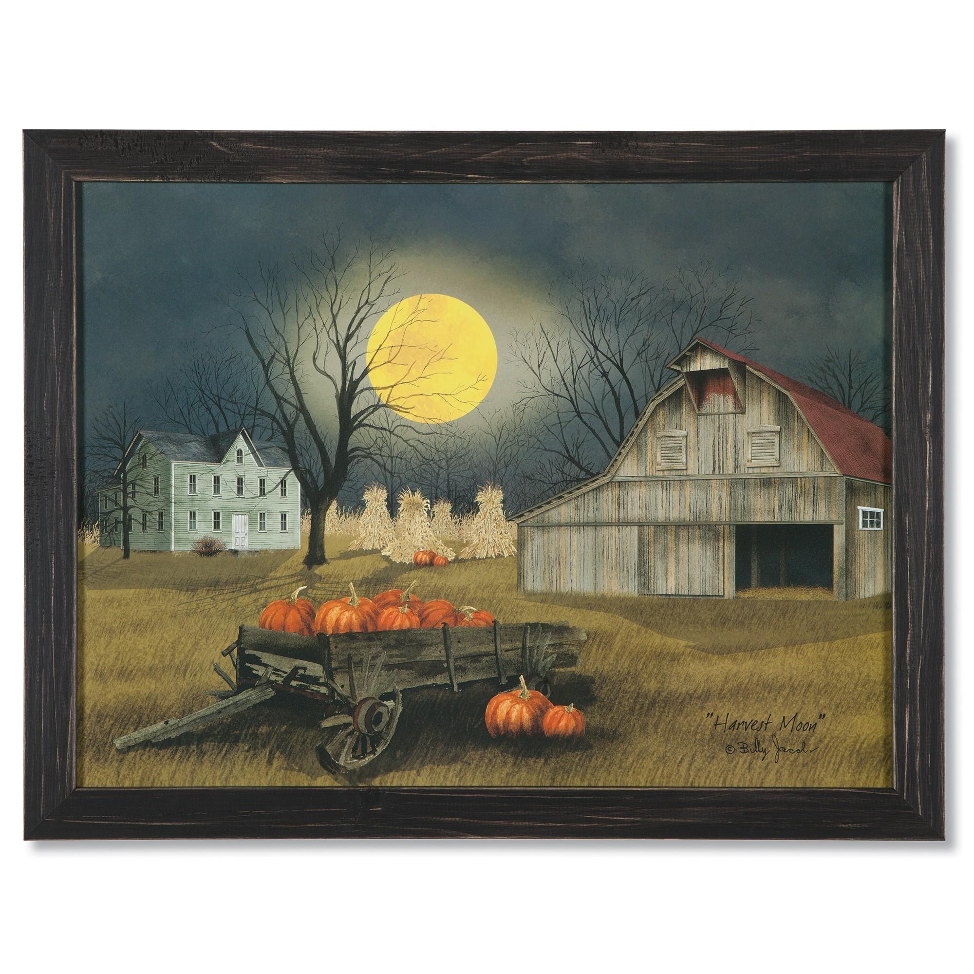 Billy Jacobs Harvest Moon | Folk Art Prints | Sturbridge Yankee Regarding Billy Jacobs Framed Wall Art Prints (Image 7 of 20)
