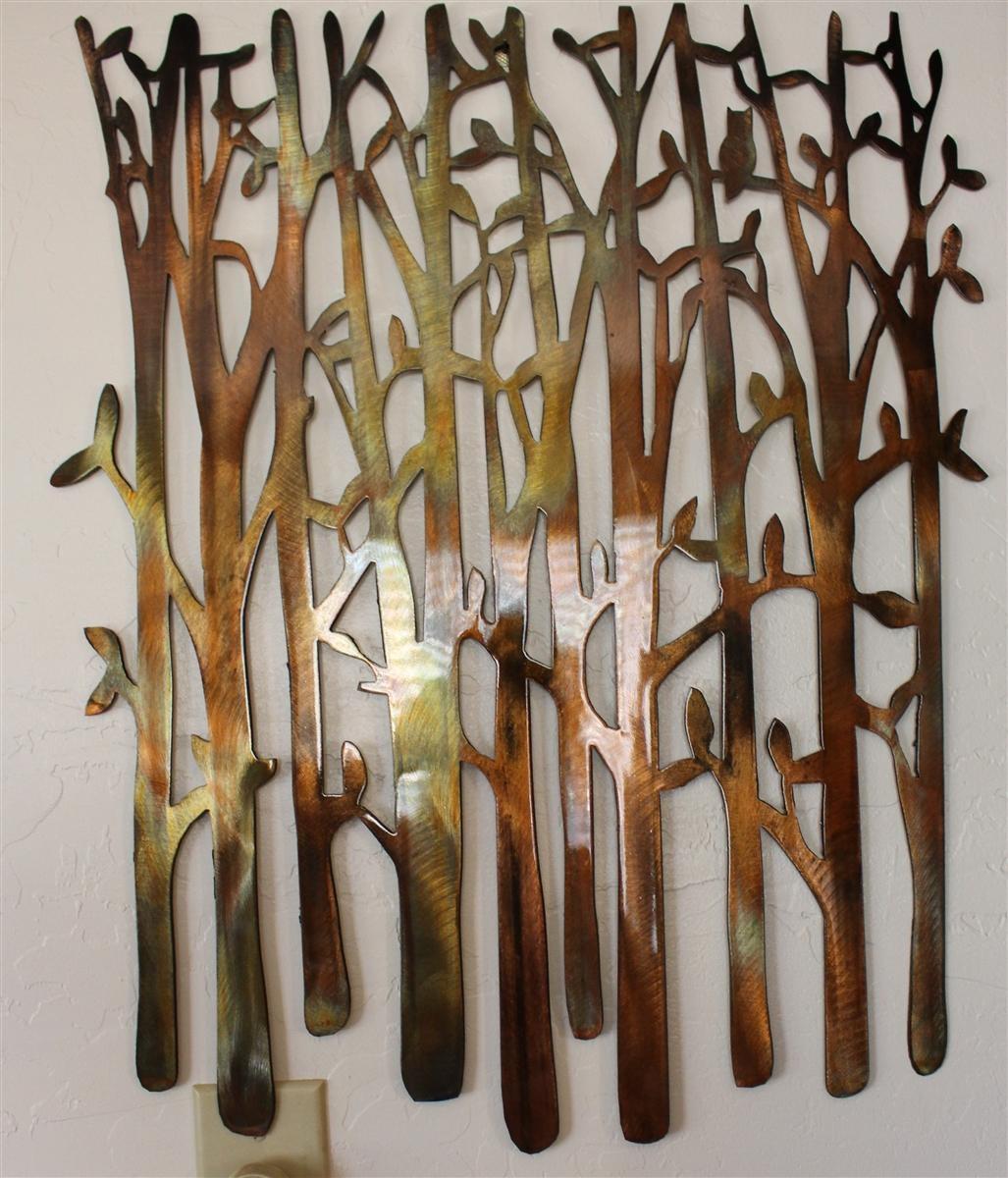 Birch Tree, Birch Tree Metal Art, Bamboo, Bird In The Trees, Bird Regarding Metal Wall Art Trees And Branches (Image 4 of 20)