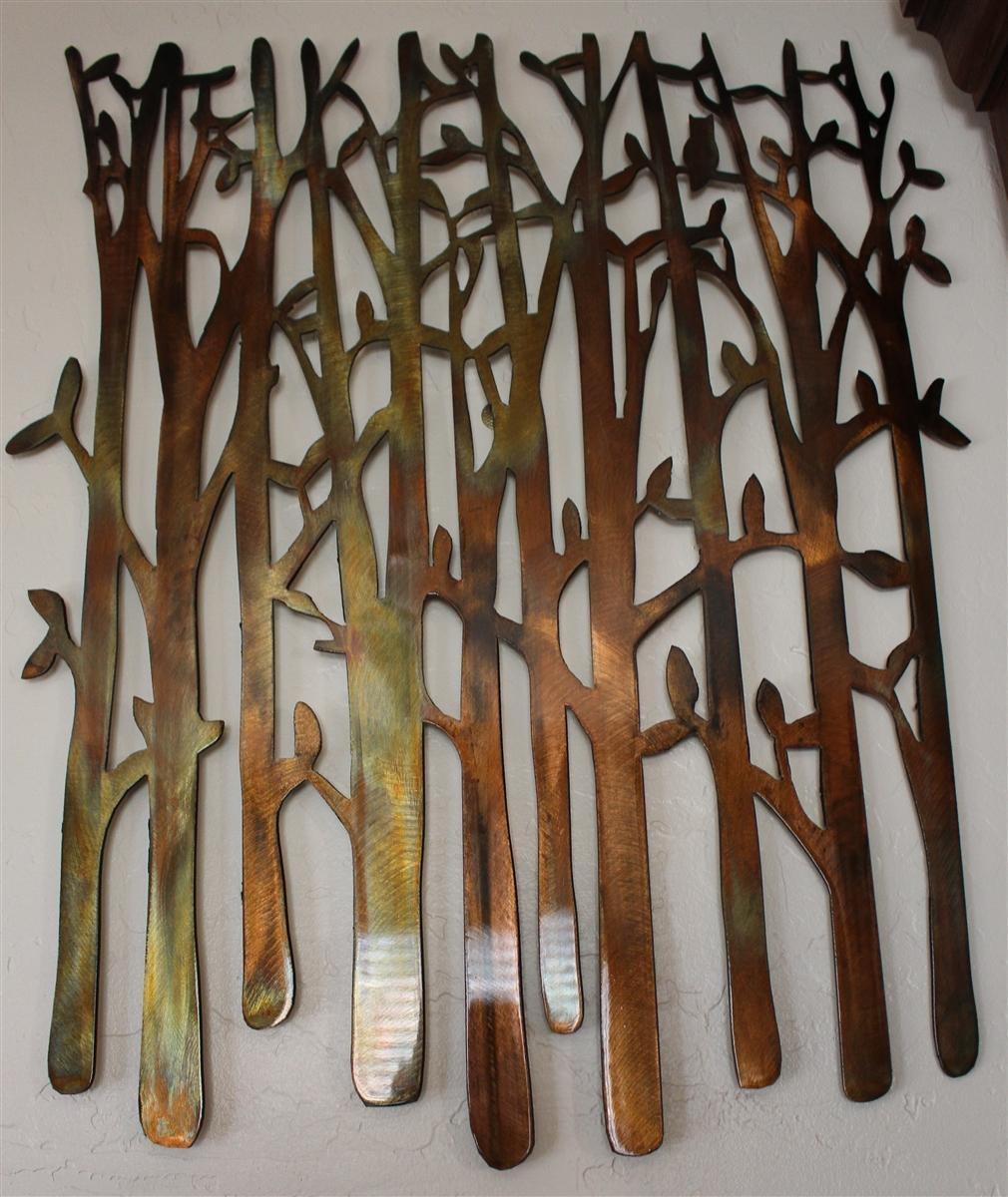 Birch Tree, Birch Tree Metal Art, Bamboo, Bird In The Trees, Bird With Regard To Metallic Wall Art (Image 3 of 20)