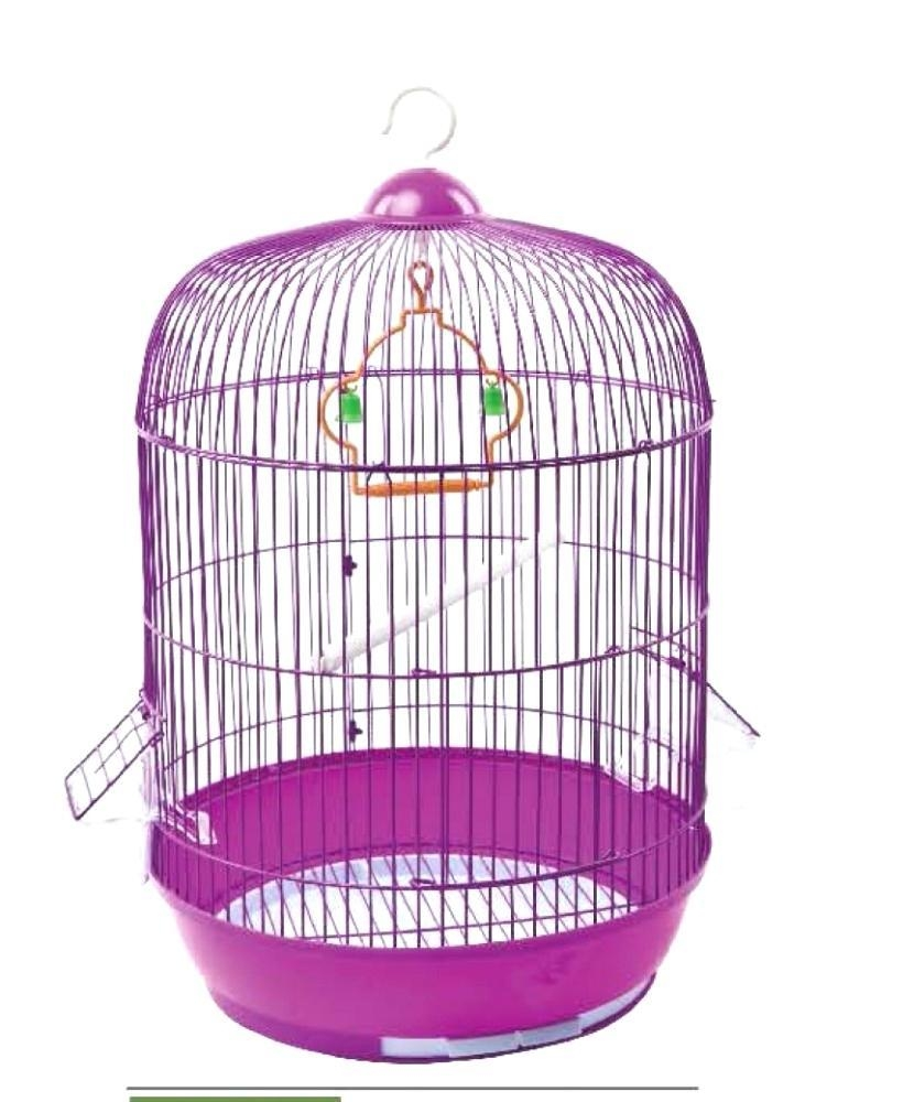 Bird Cage Wishing Well Rustic Ivory Metal Birdcage Pedestal For Metal Birdcage Wall Art (Image 7 of 20)