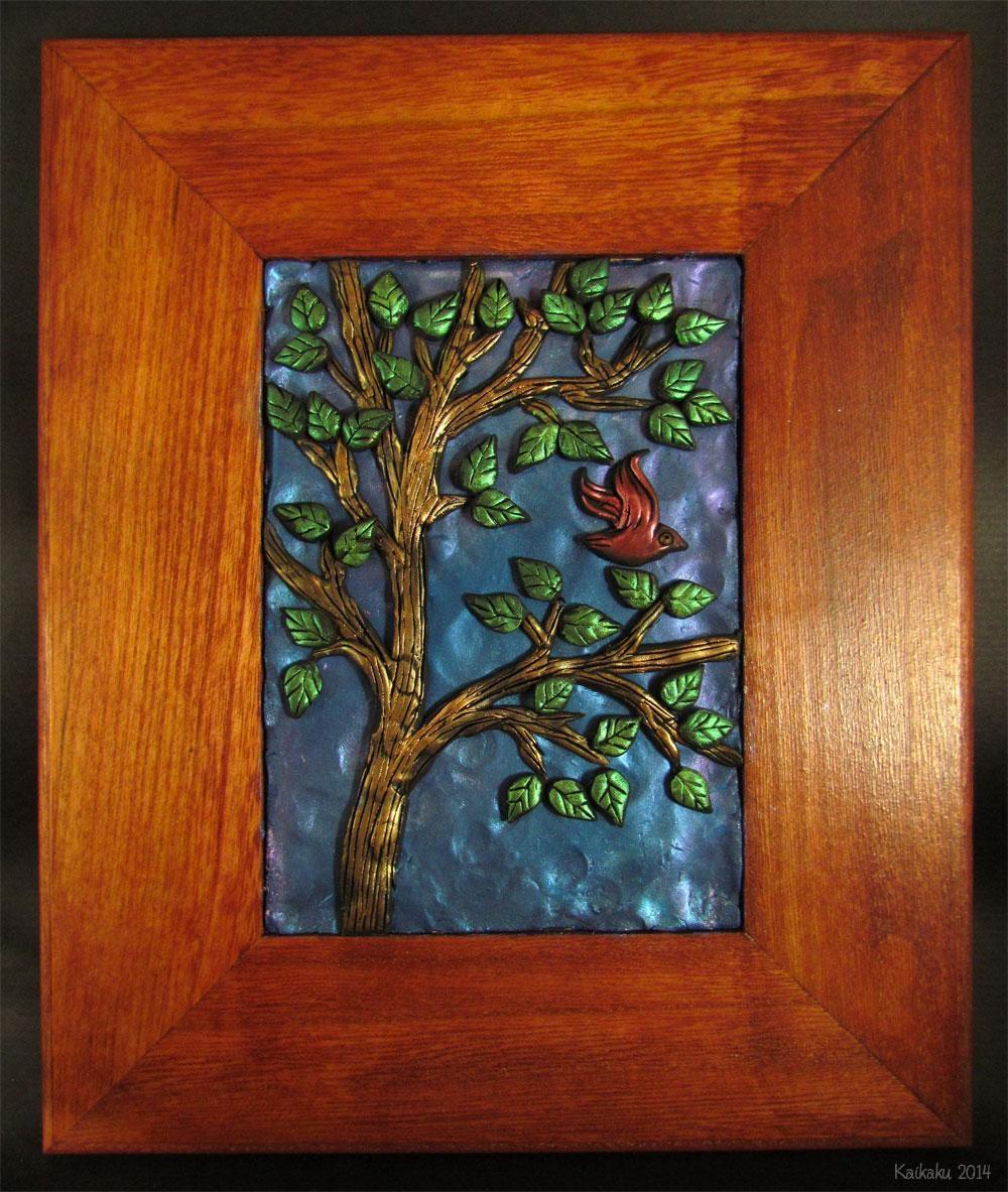 Bird In The Tree — Polymer Clay Wall Artkaikaku On Deviantart Pertaining To Polymer Clay Wall Art (View 2 of 20)