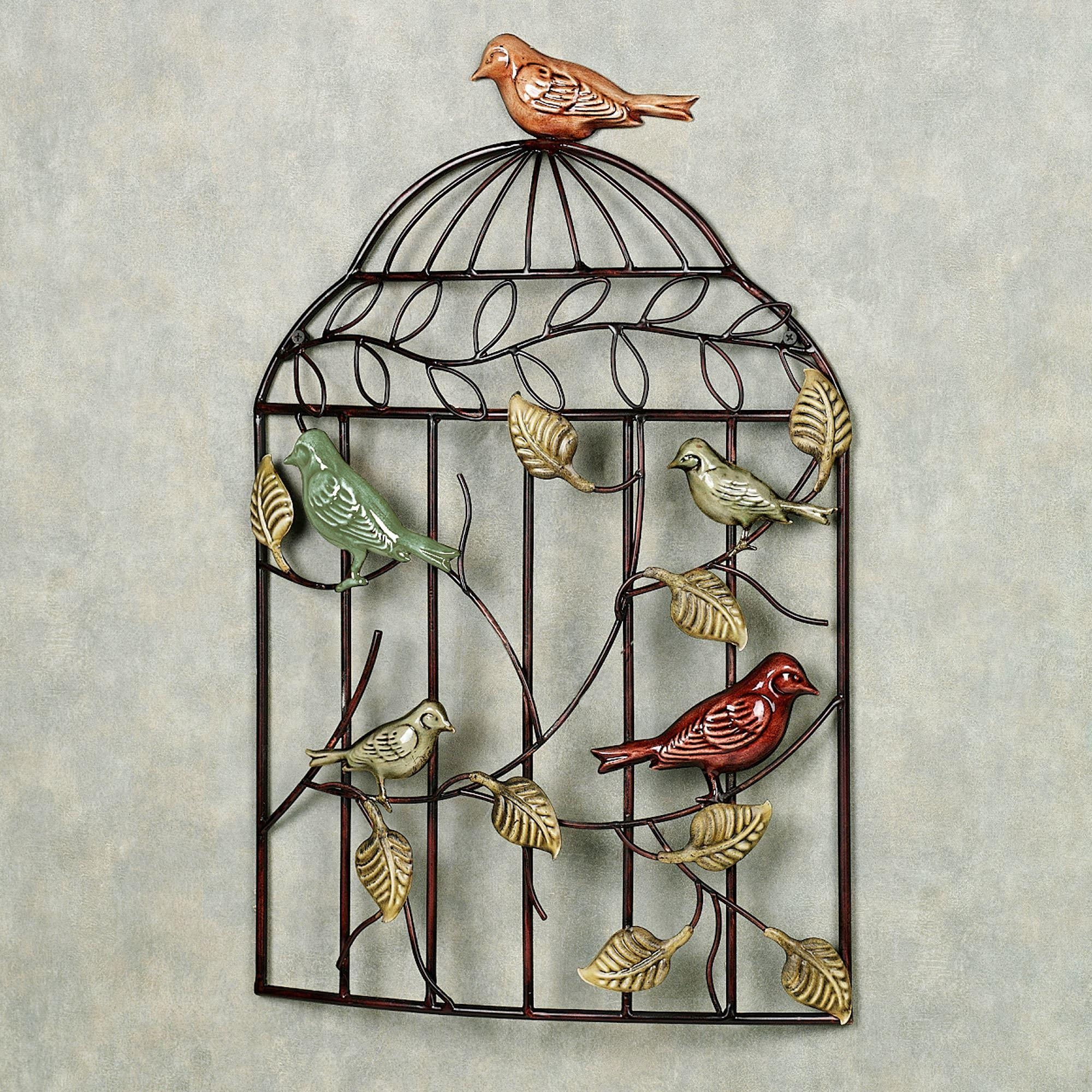 Bird Sanctuary Cage Metal Wall Art For Metal Birdcage Wall Art (View 2 of 20)
