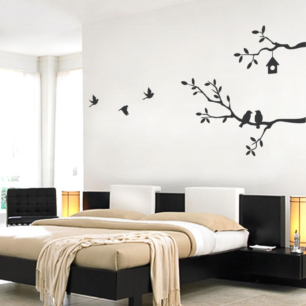 Birds And Branches Wall Decal With Tree Branch Wall Art (Image 3 of 20)