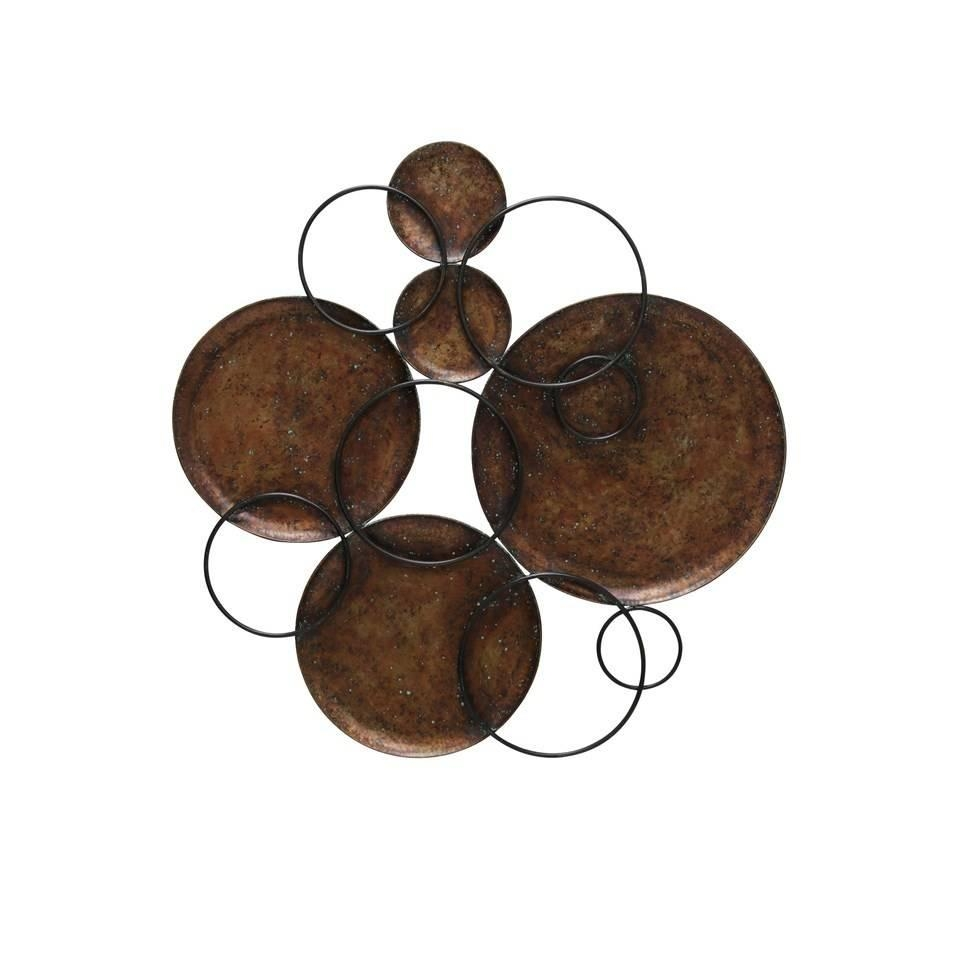 Black And Copper Circle Wall Art – Beckman's Regarding Hammered Metal Wall Art (View 4 of 20)