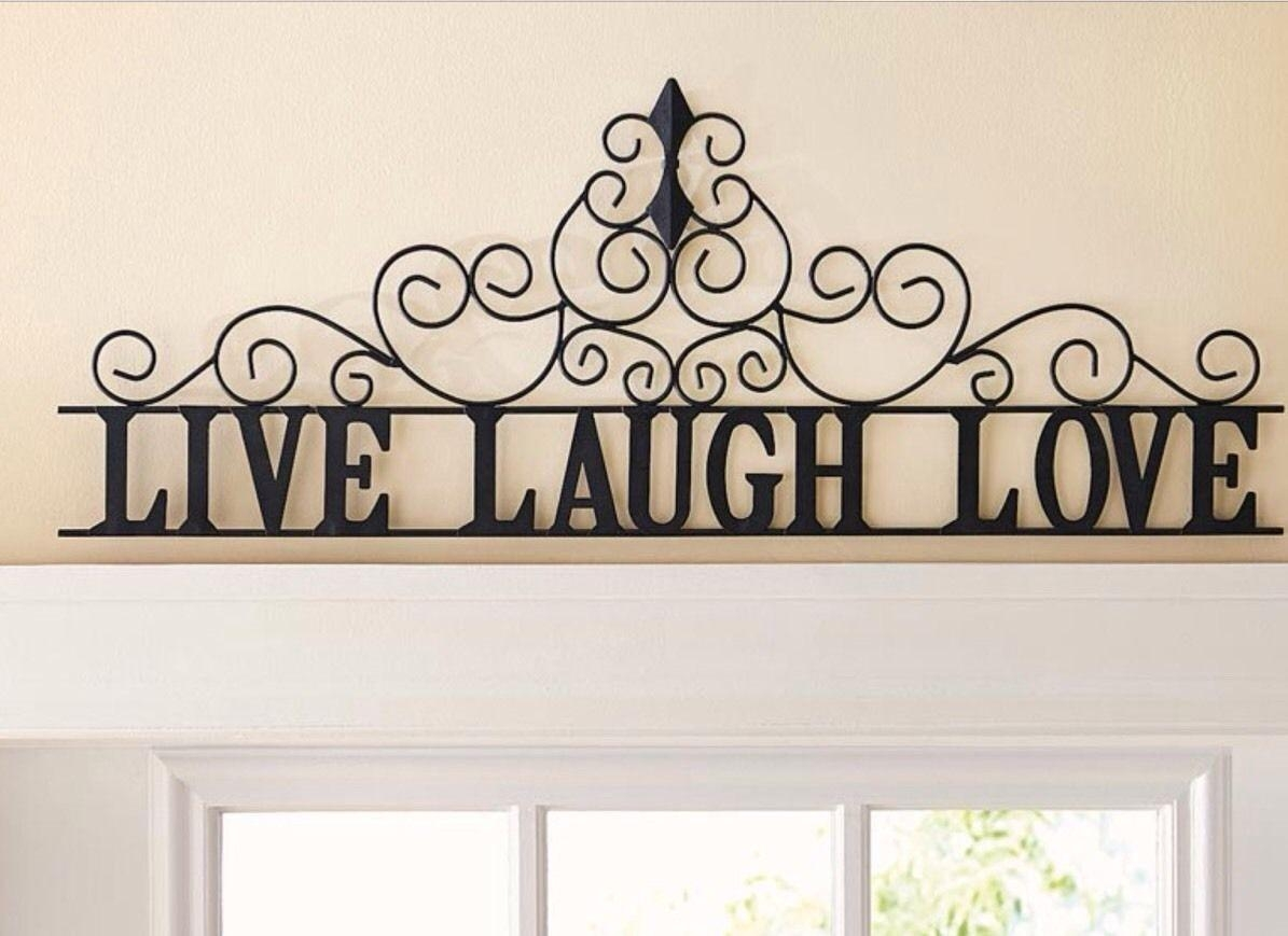 20 ideas of live laugh love wall art metal wall art ideas for Live laugh love wall art