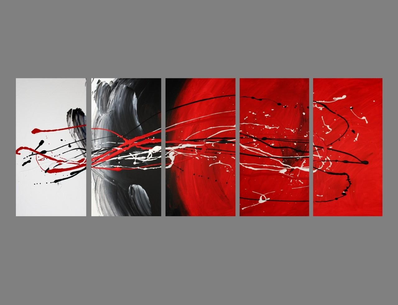 Black White And Red Canvas Art 2017 – Grasscloth Wallpaper Regarding Black And White Wall Art With Red (Image 7 of 20)