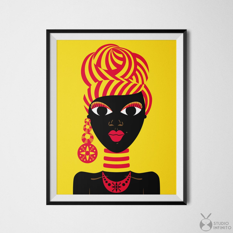 Black Woman Art African Woman Black Girl Art African Gifts With African American Wall Art And Decor (Image 10 of 20)