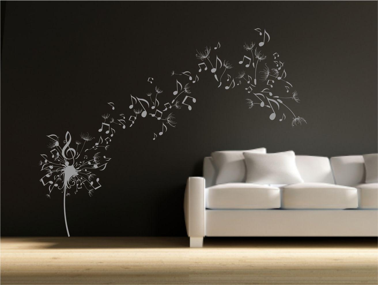 20 photos music note art for walls wall art ideas blowing dandelions uber decals wall decal vinyl decor art sticker for music note art for walls amipublicfo Image collections