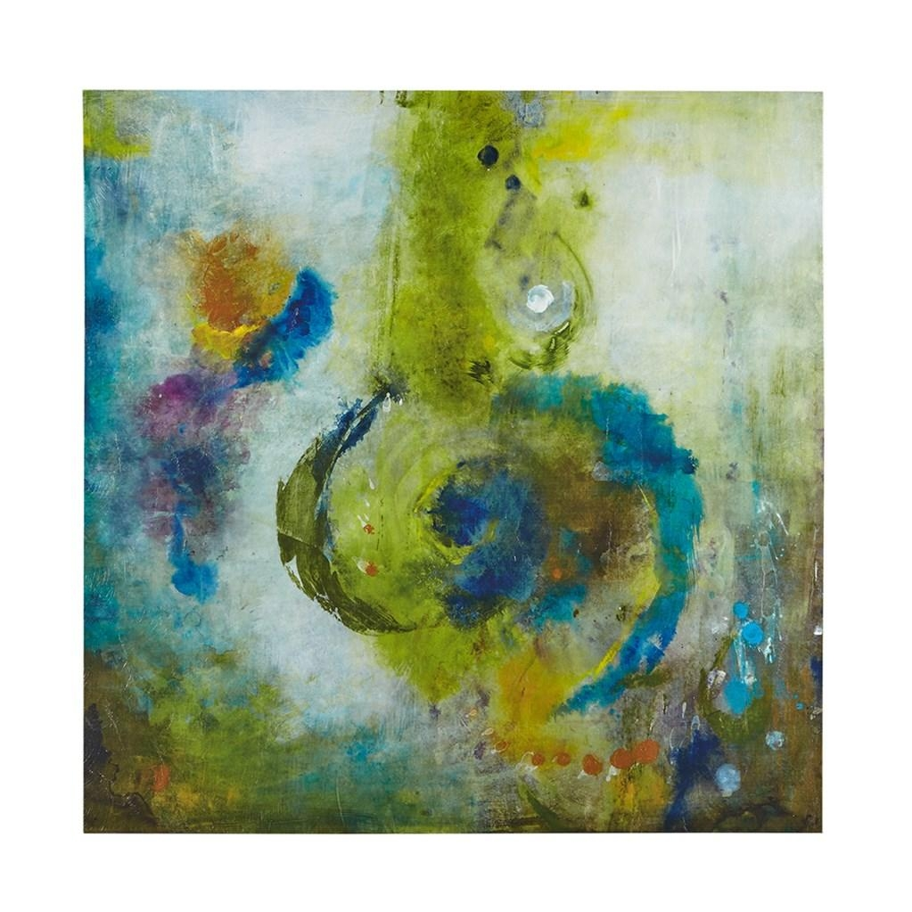 Blue & Gold Abstract Wave Wall Art – Set Of 3 Pertaining To Blue And Green Wall Art (Image 5 of 20)