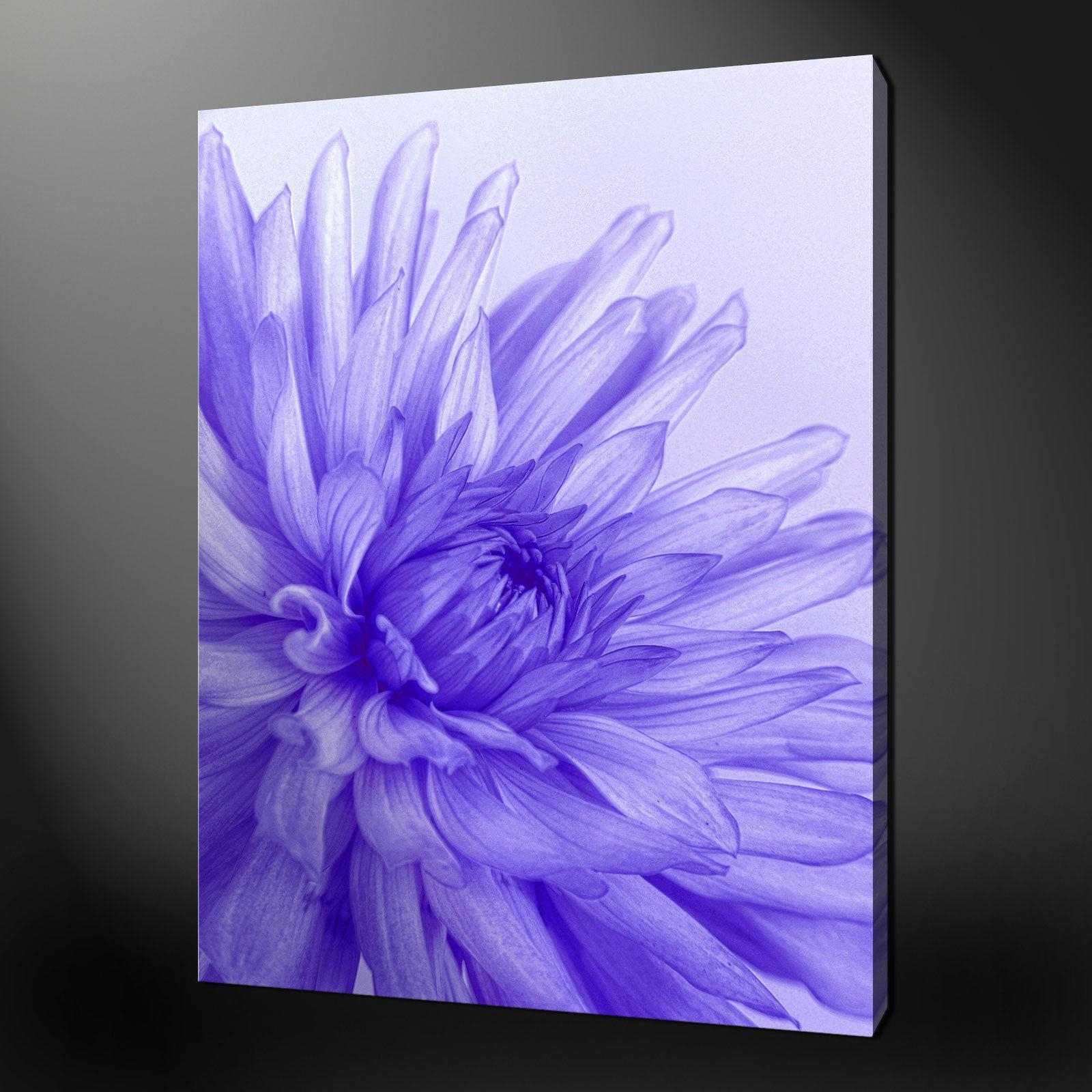 Blue Purple Flower Canvas Wall Art Pictures Prints 20 X 16 Inch With Regard To Purple Canvas Wall Art (View 14 of 20)