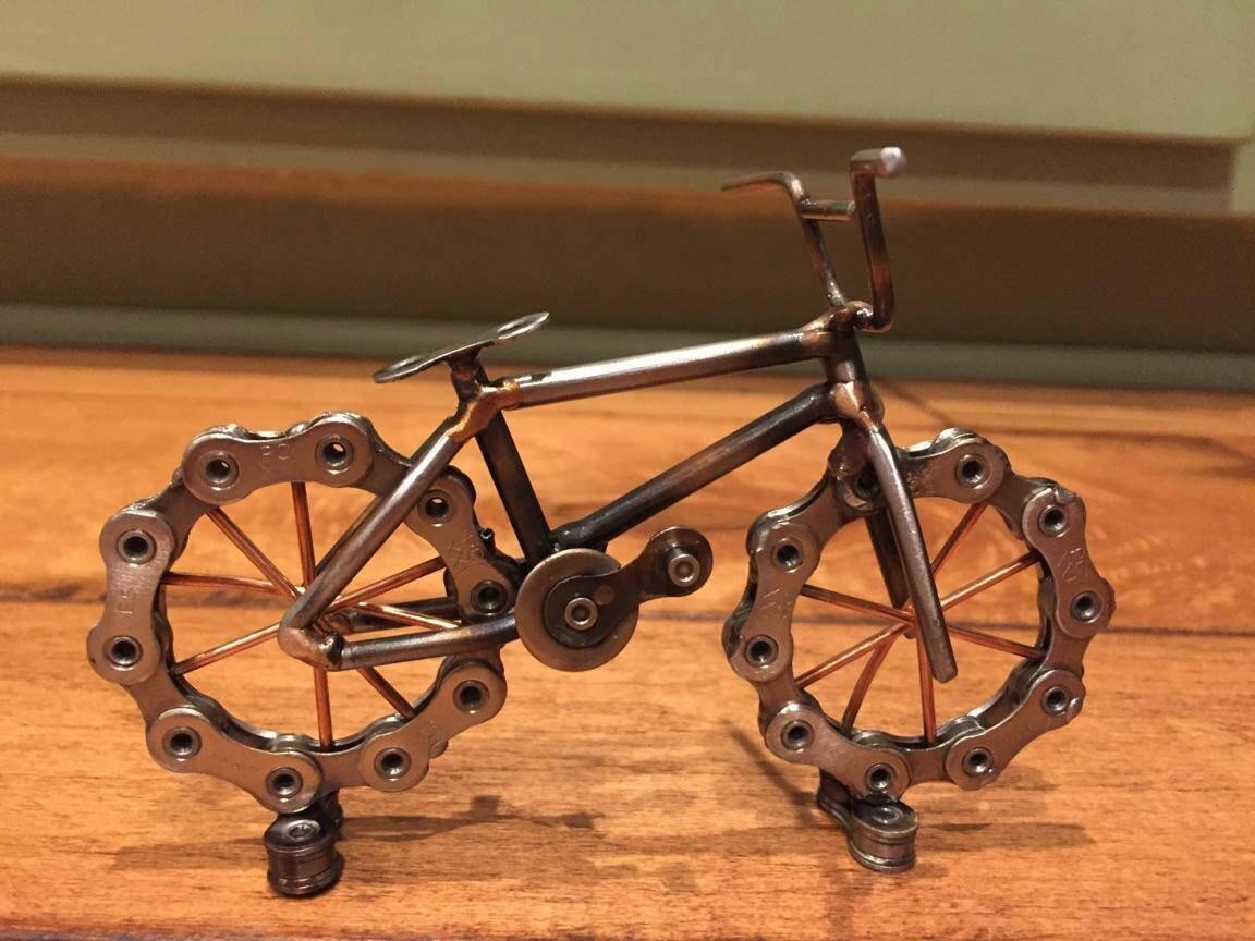 Bmx Bike Sculpture Scrap Art Within Metal Bicycle Art (Image 6 of 20)