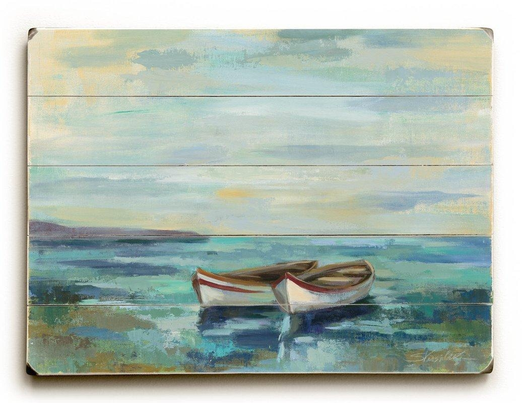 Boats On The Beach Wall Decor & Reviews | Joss & Main For Beach Wall Art (Image 7 of 20)
