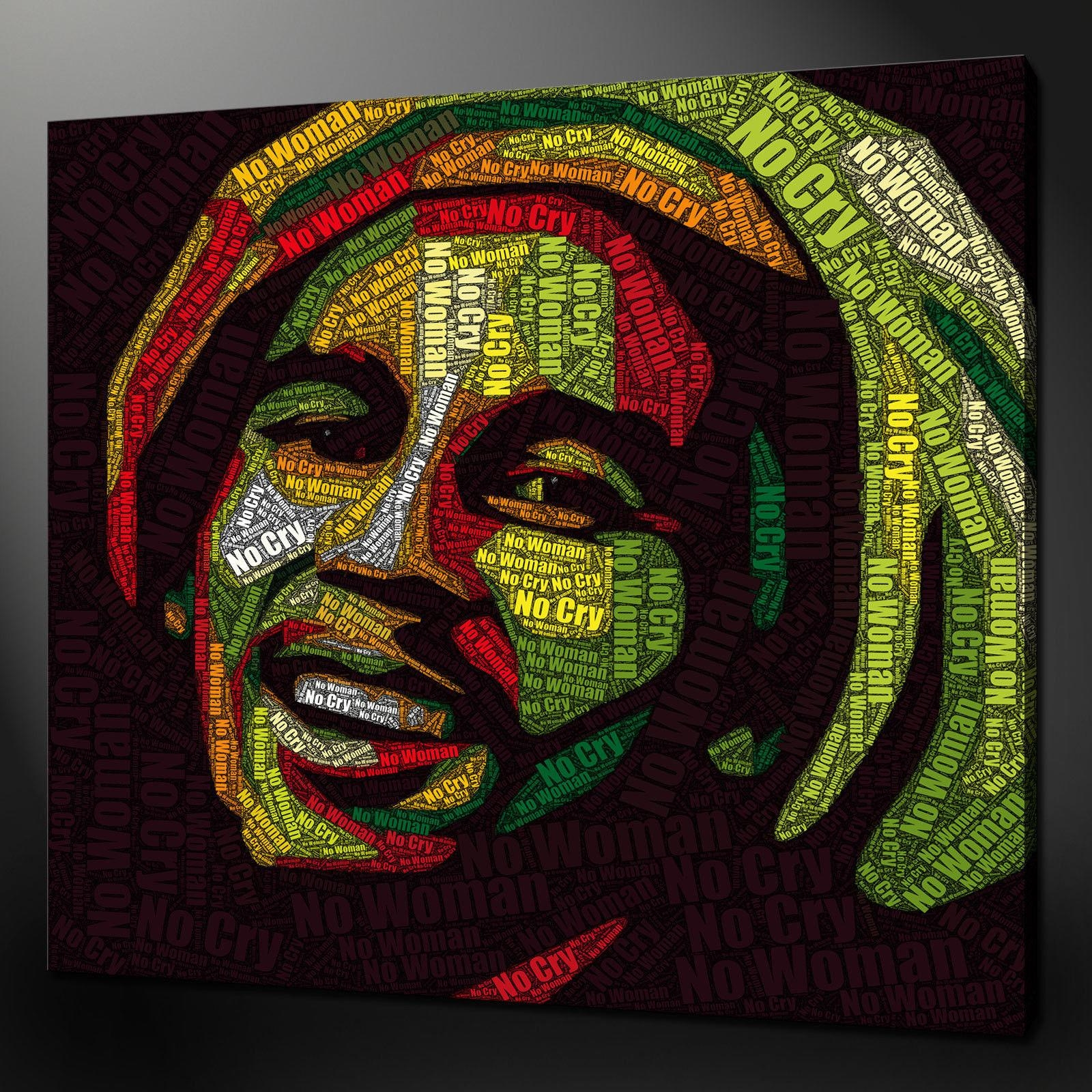 Bob Marley Canvas Wall Art Pictures Prints Size Variety Free Uk With Bob Marley Canvas Wall Art (Image 6 of 20)
