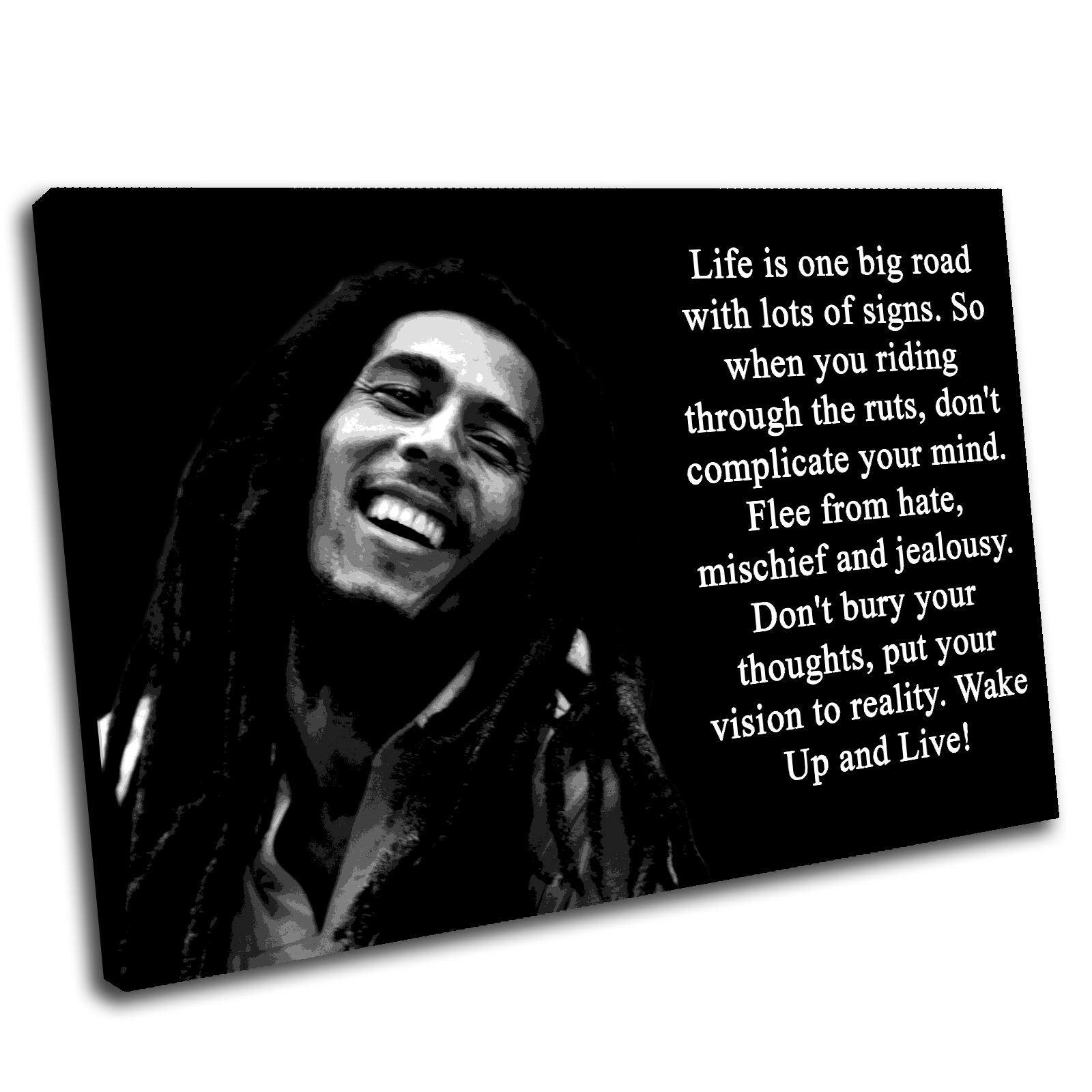 Bob Marley Canvas Wall Art Print Framed Picture Premium Quality | Ebay With Regard To Bob Marley Canvas Wall Art (View 8 of 20)