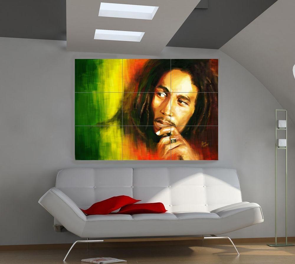 Bob Marley Giant Music Photo Wall Poster Art Qa508 | Ebay In Bob Marley Wall Art (Image 3 of 20)