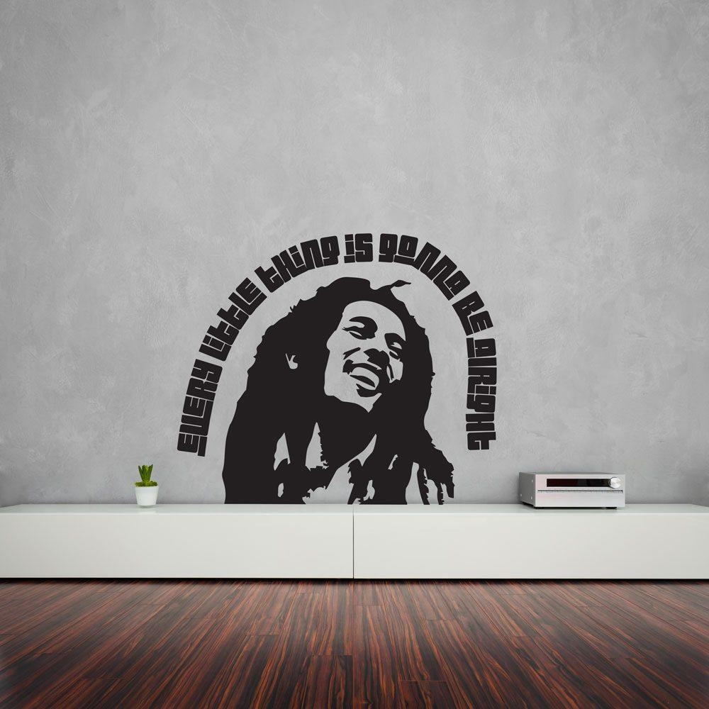 Bob Marley Portrait Vinyl Wall Art Decal | Vinyl Revolution With Bob Marley Wall Art (Image 4 of 20)
