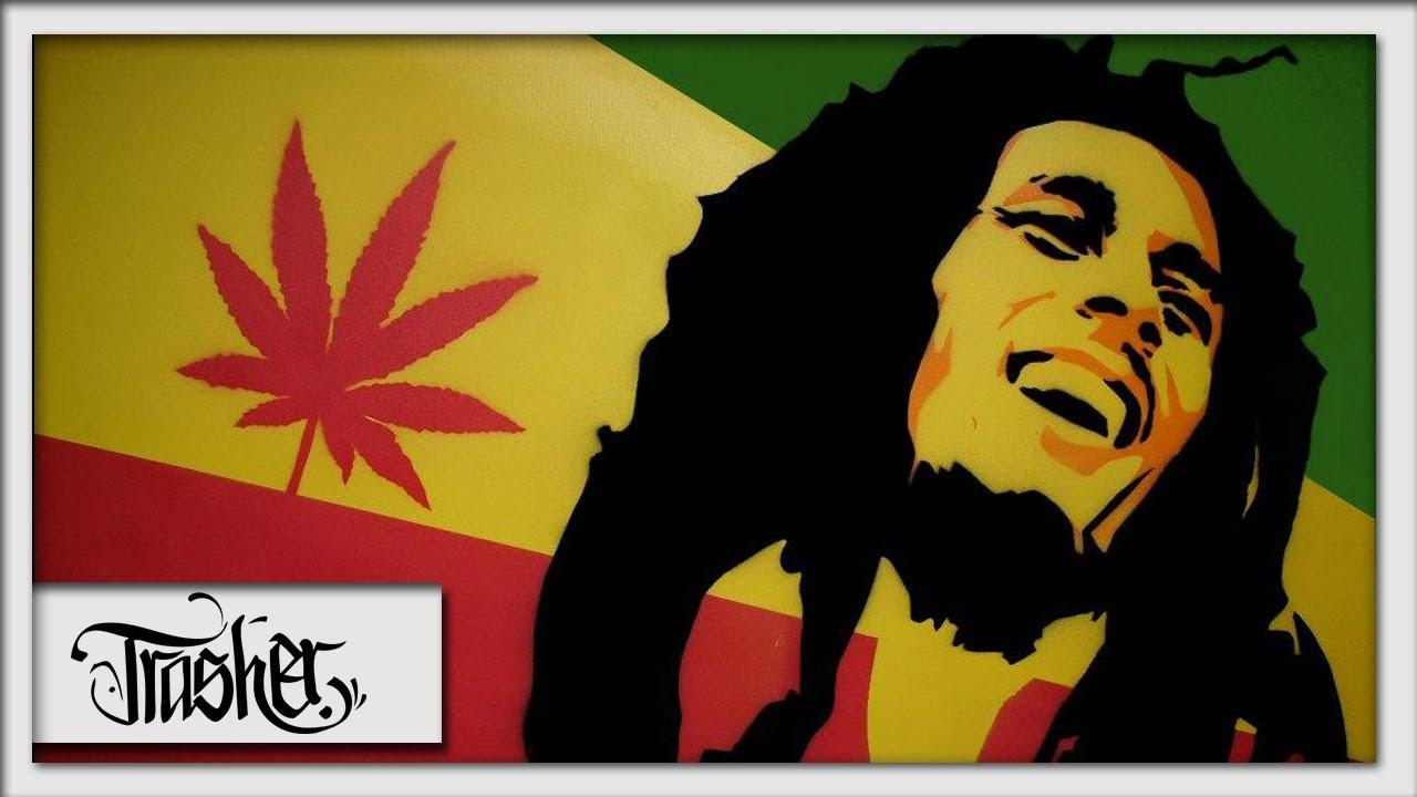 Bob Marley Speed Painting On Canvas – By: Trasher – Youtube For Bob Marley Canvas Wall Art (Image 8 of 20)