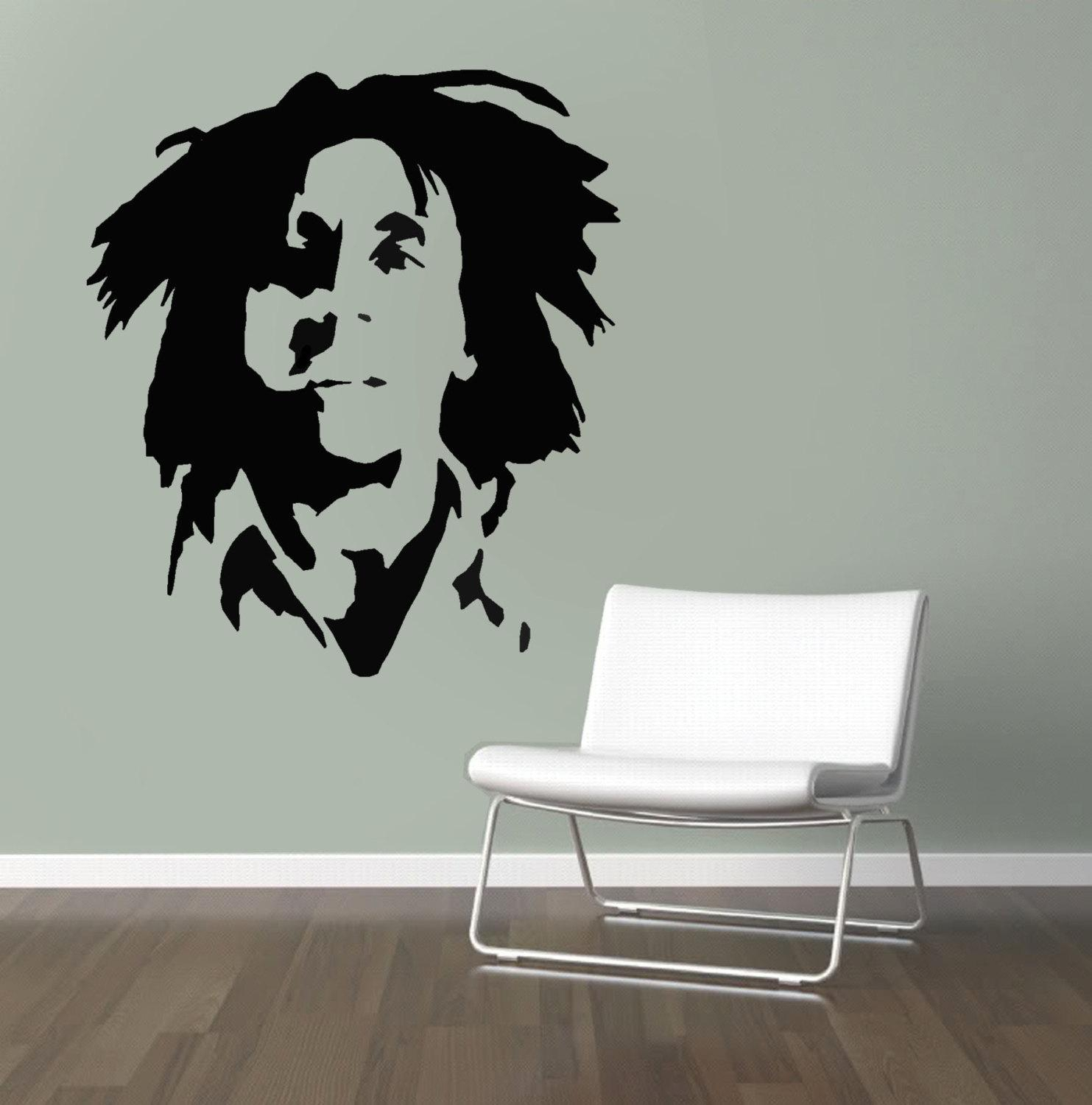 Bob Marley Stencil Reusable Stencil For Home Decor Create Throughout Bob Marley Wall Art (Image 7 of 20)