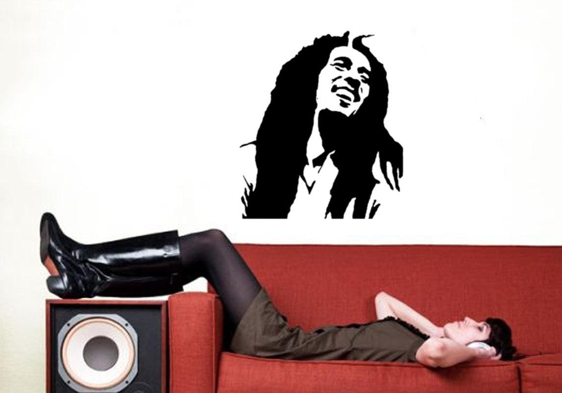 Bob Marley Stencil Reusableart Painting Stencil Bob Marley In Bob Marley Wall Art (Image 8 of 20)