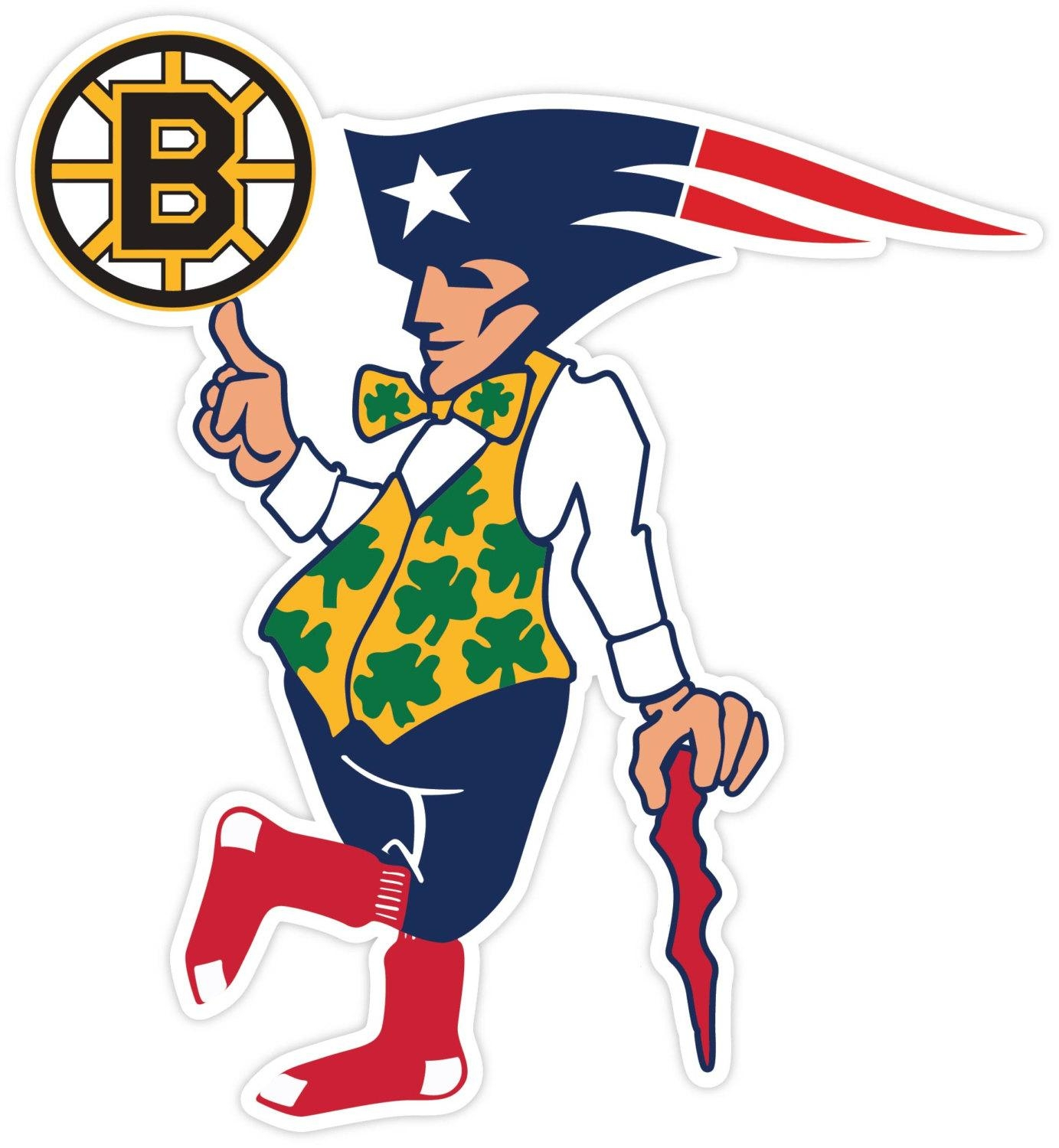 Boston Fan Sport Teams Red Sox Bruins Celtics Patriots Vinyl For Red Sox Wall Decals (Image 2 of 20)