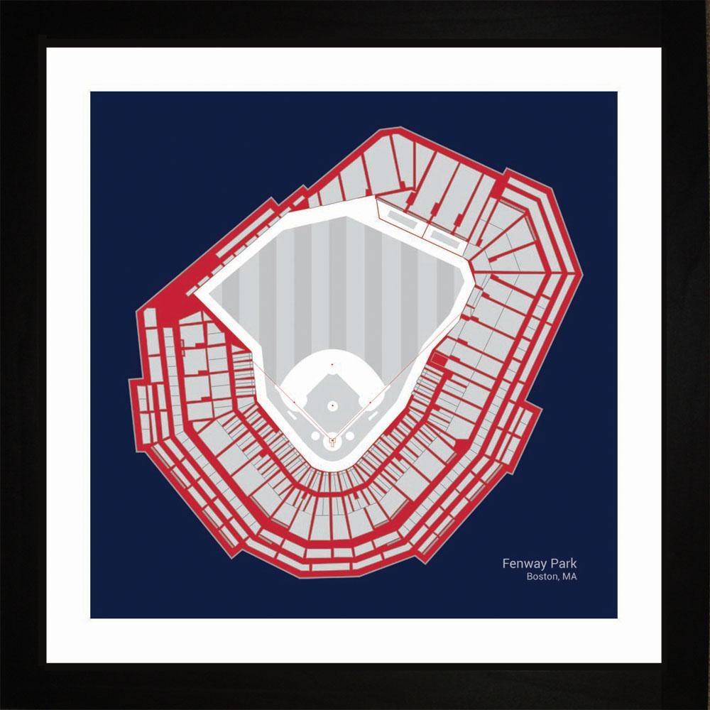 Boston Red Sox Fenway Park Stadium Print Art Gift Wall Art Regarding Boston Red Sox Wall Art (Image 1 of 20)