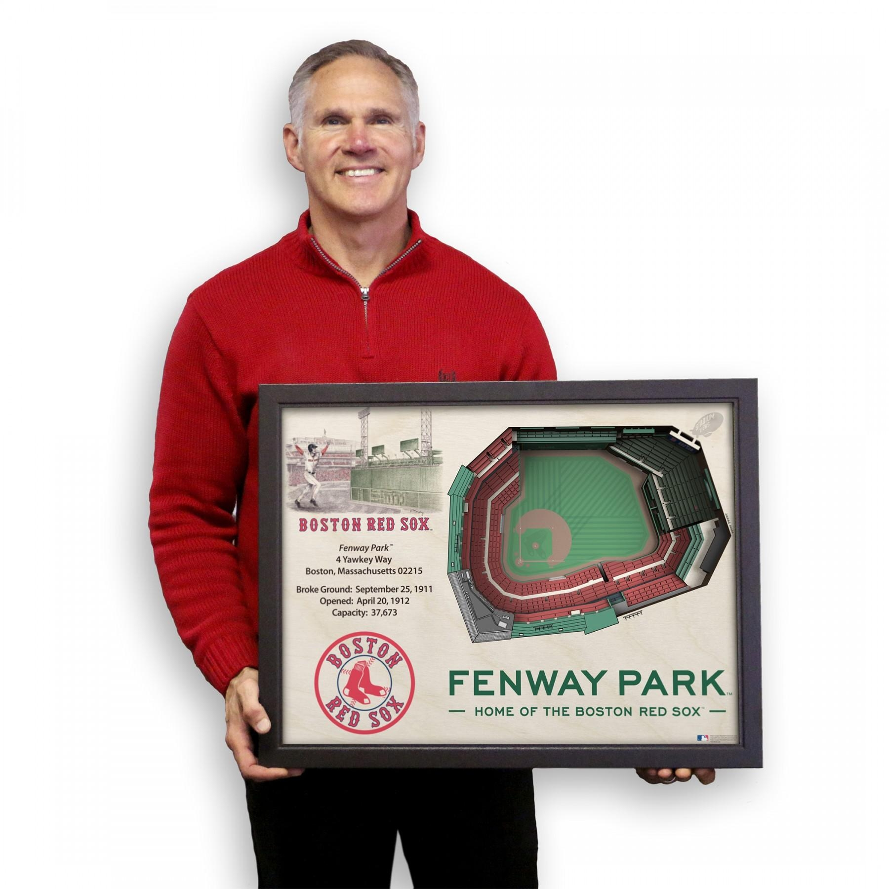 Boston Red Sox Stadiumview Wall Art – Fenway Park 3 D Reproduction Inside Red Sox Wall Art (Image 8 of 20)