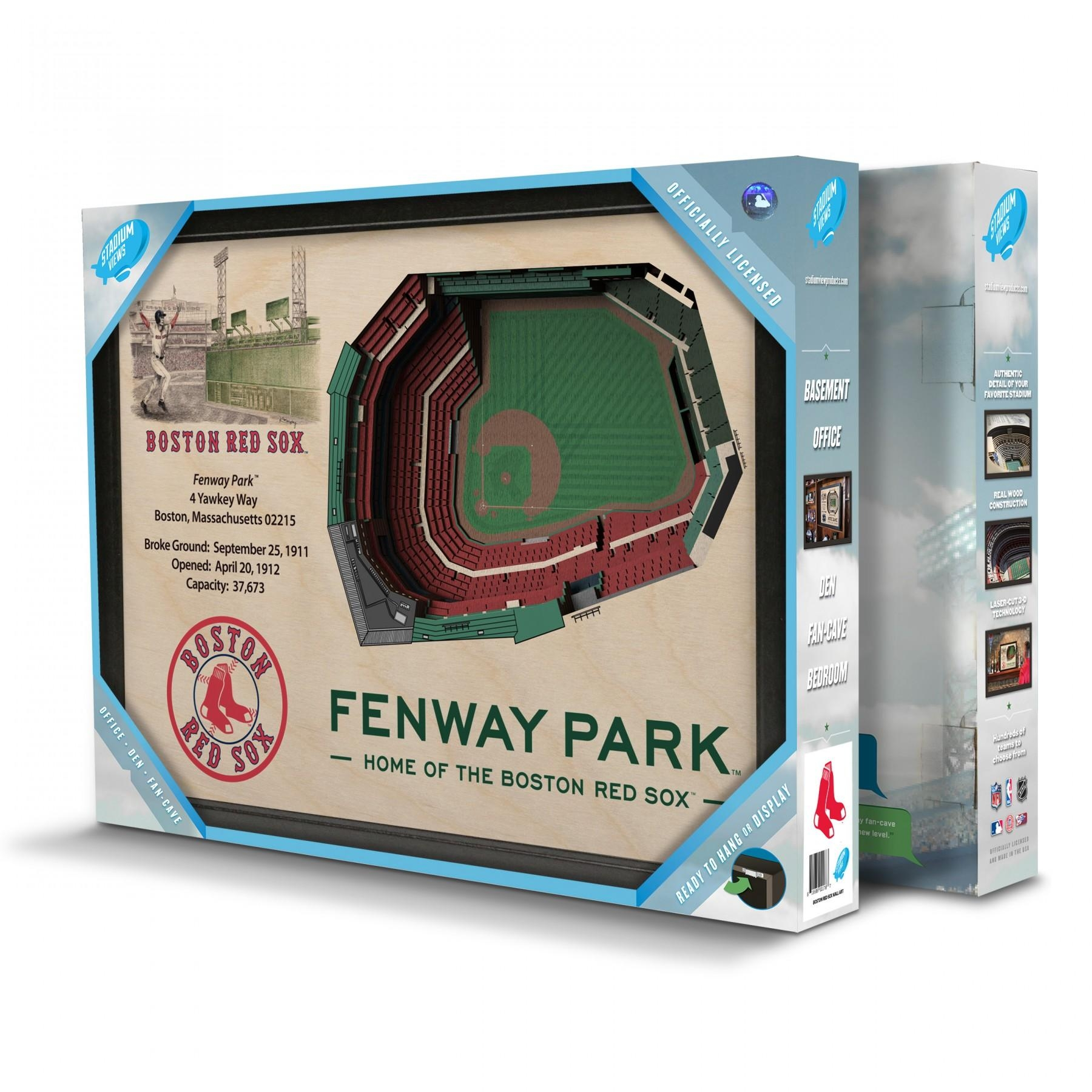 Boston Red Sox Stadiumview Wall Art – Fenway Park 3 D Reproduction Intended For Red Sox Wall Art (Image 9 of 20)