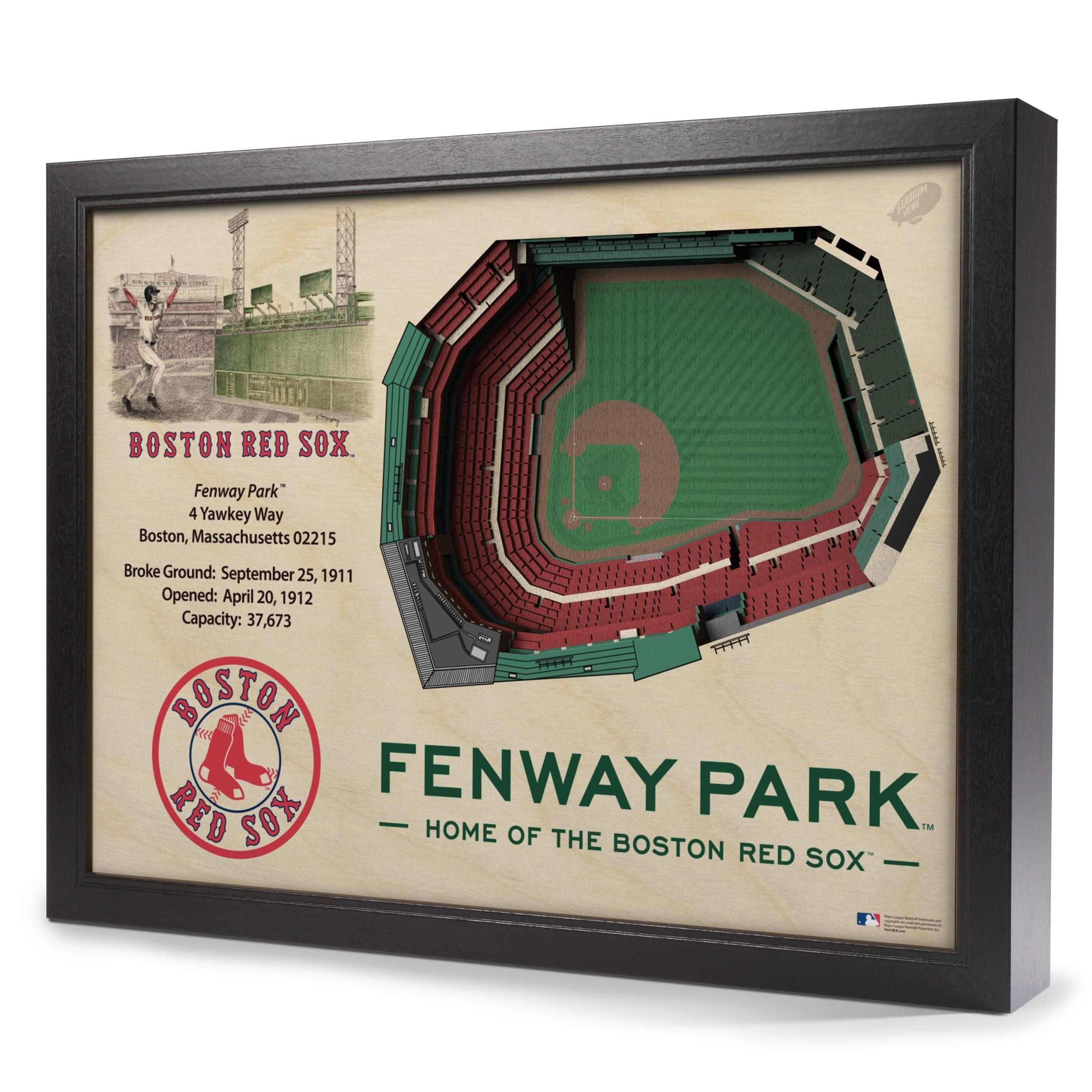 Boston Red Sox Stadiumview Wall Art – Fenway Park 3 D Reproduction Regarding Boston Red Sox Wall Art (View 3 of 20)