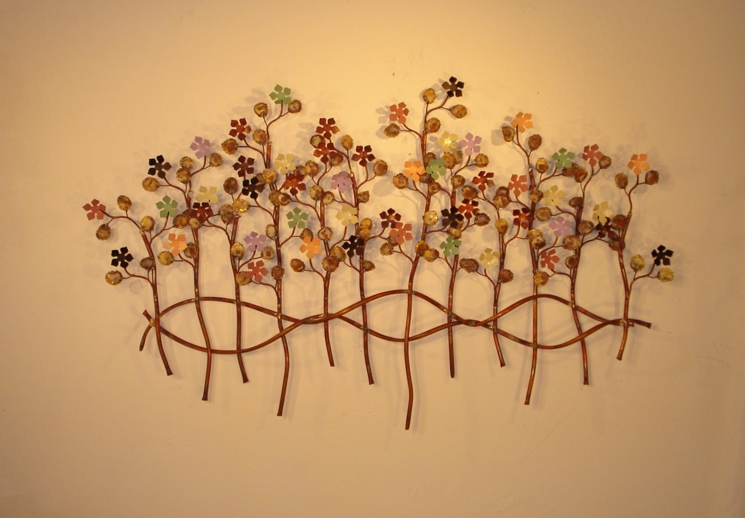 Botanical Metal Wall Decor, Sculptures And Art | Gurtan Designs Inside Botanical Metal Wall Art (Image 3 of 20)