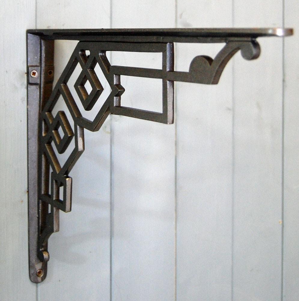 Bowley & Jackson Art Deco Cast Metal Wall And Shelf Bracket Bowley Pertaining To Art Deco Metal Wall Art (View 18 of 20)