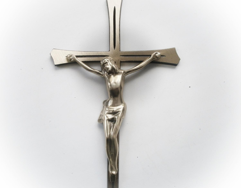 Brass Wall Crucifix Large Wall Cross 3D Wall Art Brass Wall Inside Large Christian Wall Art (Image 5 of 20)
