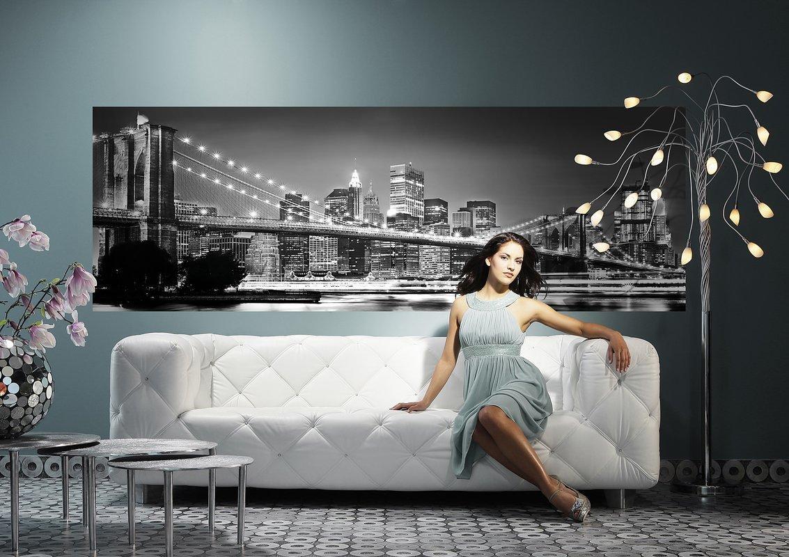 Brewster Home Fashions Komar Brooklyn Bridge Wall Mural & Reviews Regarding Brooklyn Bridge Wall Decals (View 10 of 20)