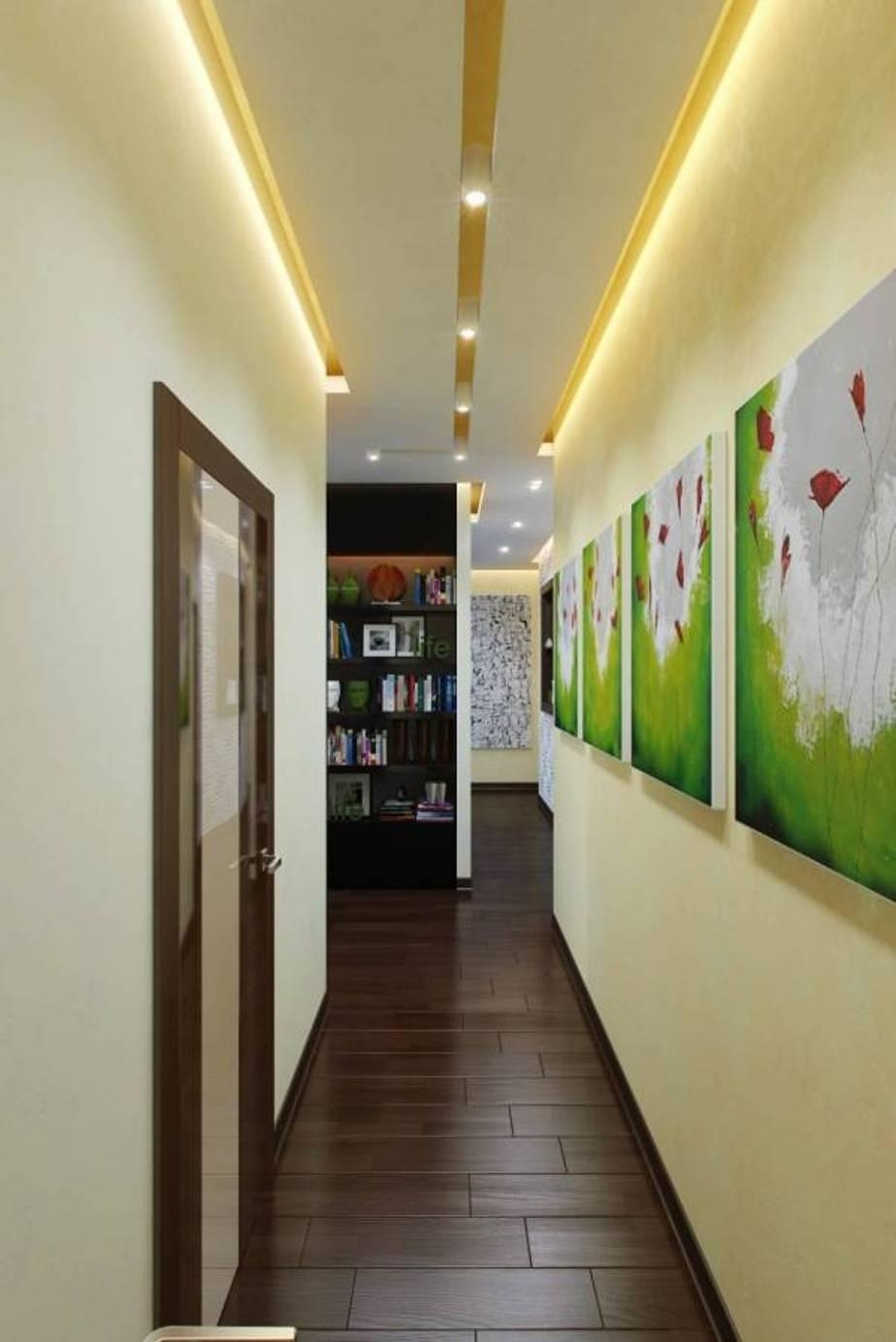 Bright Hallway Colour Ideas With Led Lighting And Wall Art Gallery In Wall Art Ideas For Hallways (View 8 of 20)