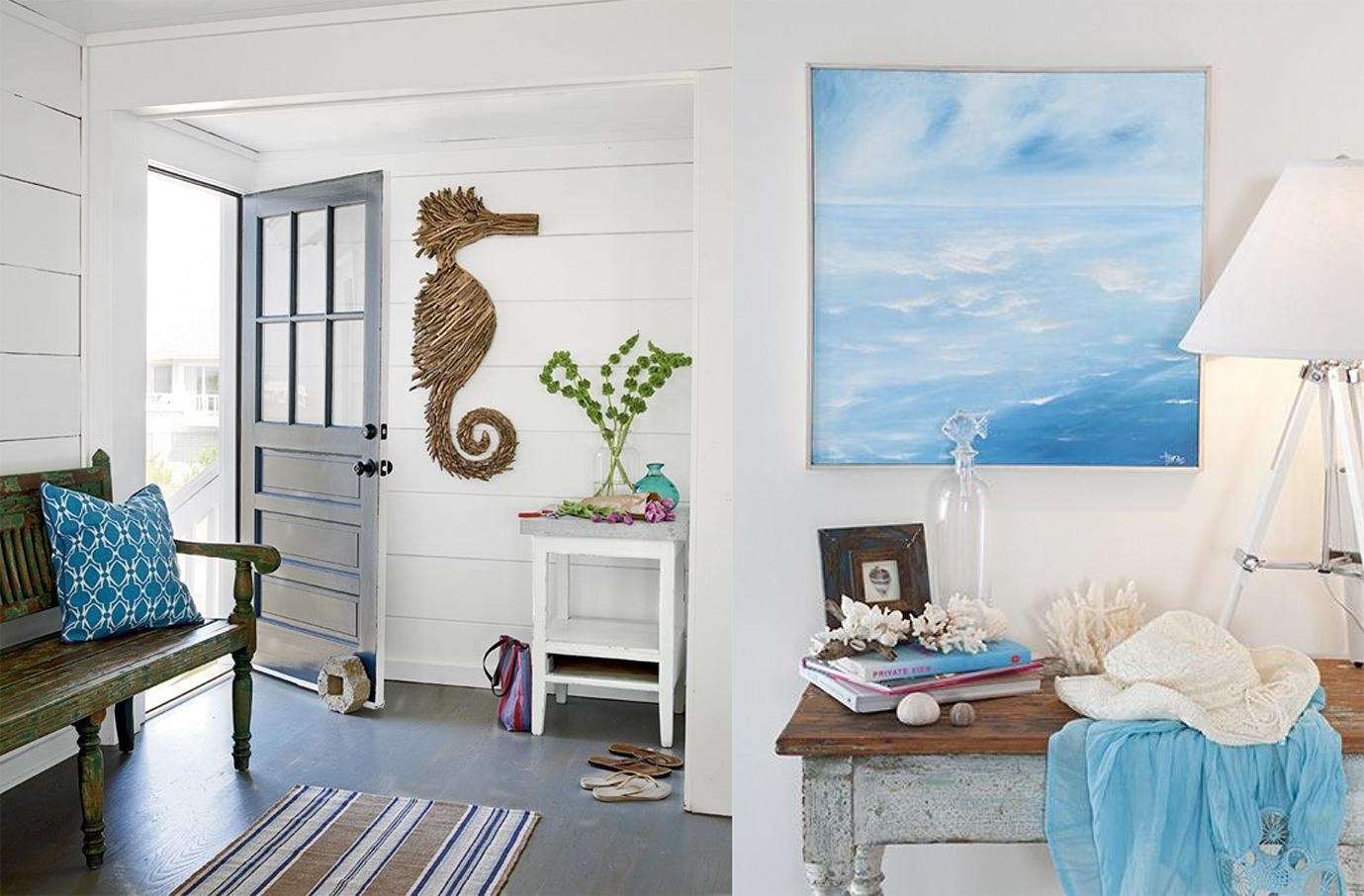 Bring Beach To Your House With Coastal Wall Decor — Unique Pertaining To Beach Cottage Wall Art (Image 8 of 20)