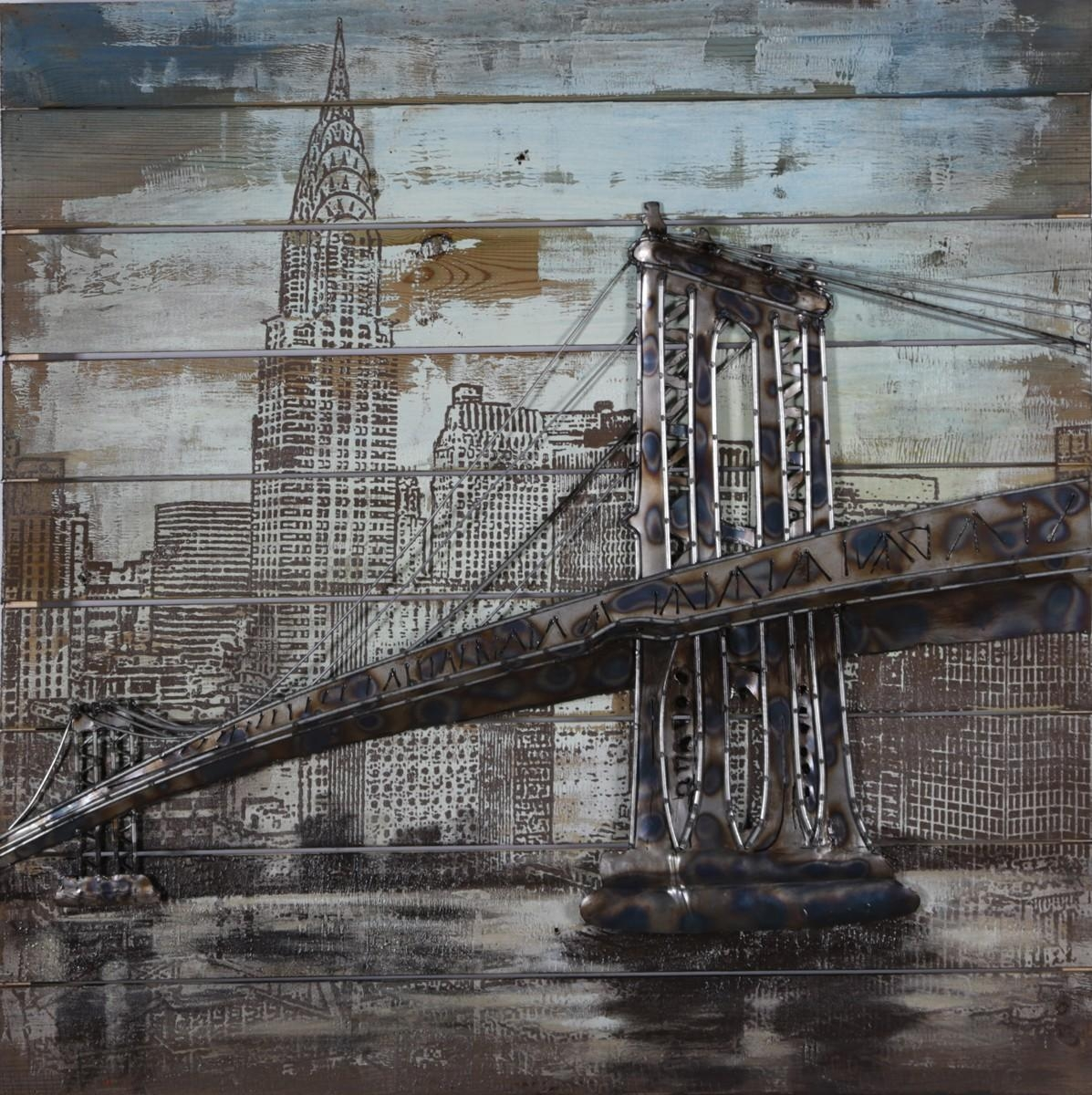 Brooklyn Bridge 3D Metal Wall Art – Blackbrook Interiors With Brooklyn Bridge Metal Wall Art (Image 1 of 20)
