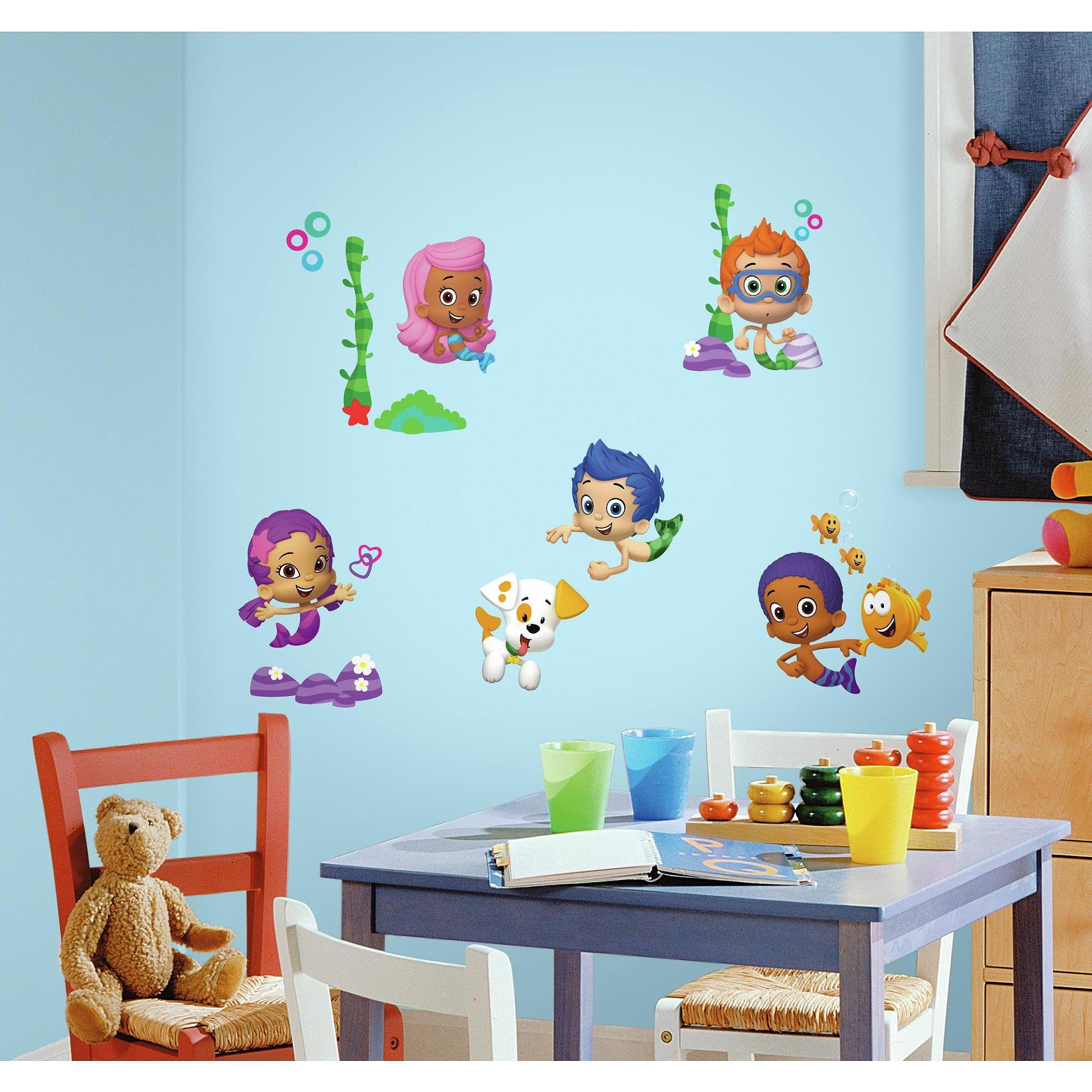 Bubble Guppies Peel And Stick Wall Decals – Walmart For Walmart Wall Stickers (Image 3 of 20)