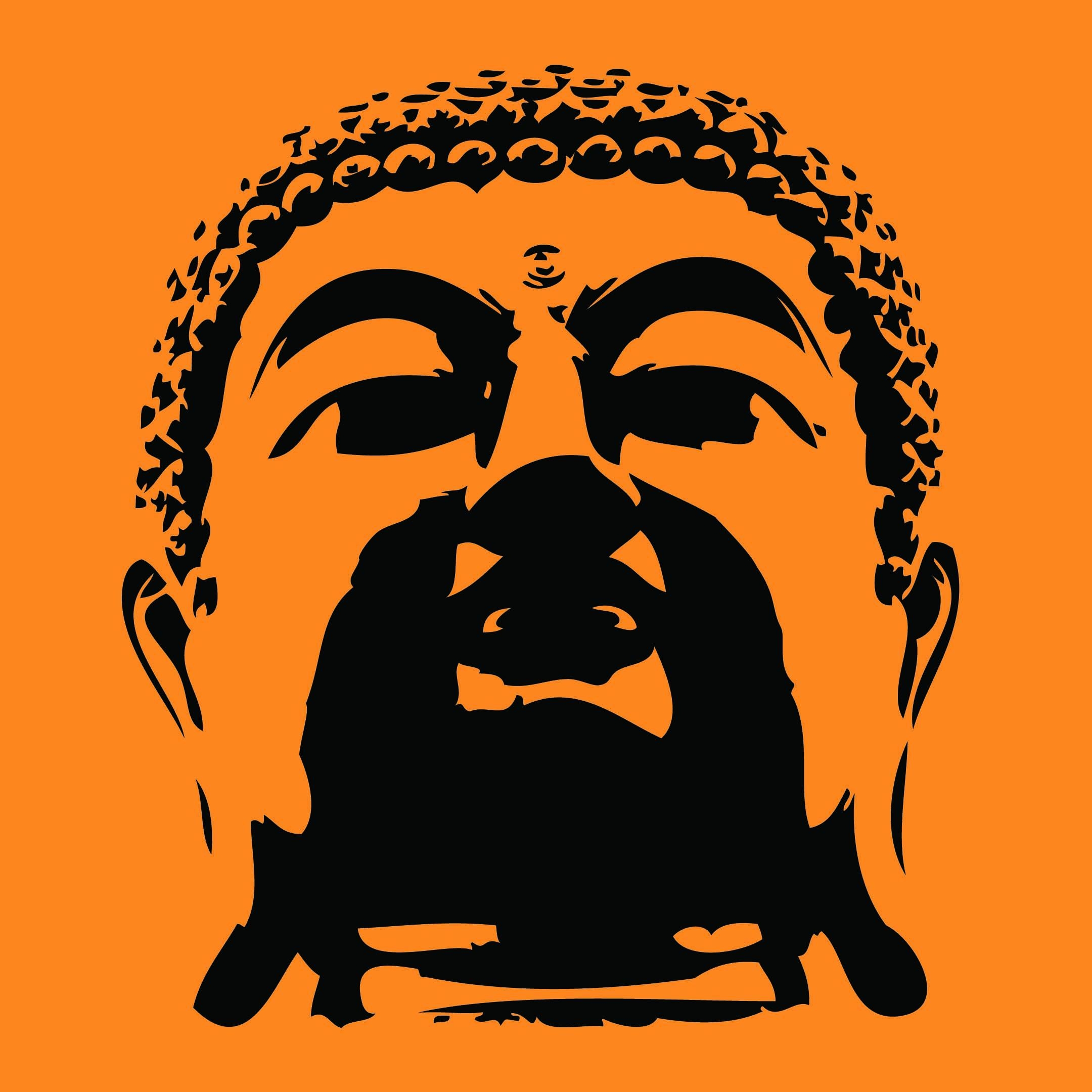 "Buddha Head Wall Art 23""x 26.5""shop Online This Exclusive Wall Design (Image 2 of 20)"