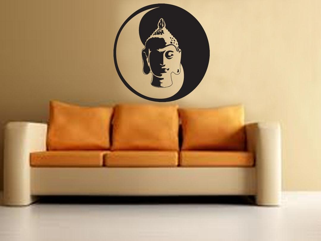 Buddha Yin Yang Wall Decal – Buddha Wall Sticker Meditation Yoga With Regard To Yin Yang Wall Art (Image 1 of 20)