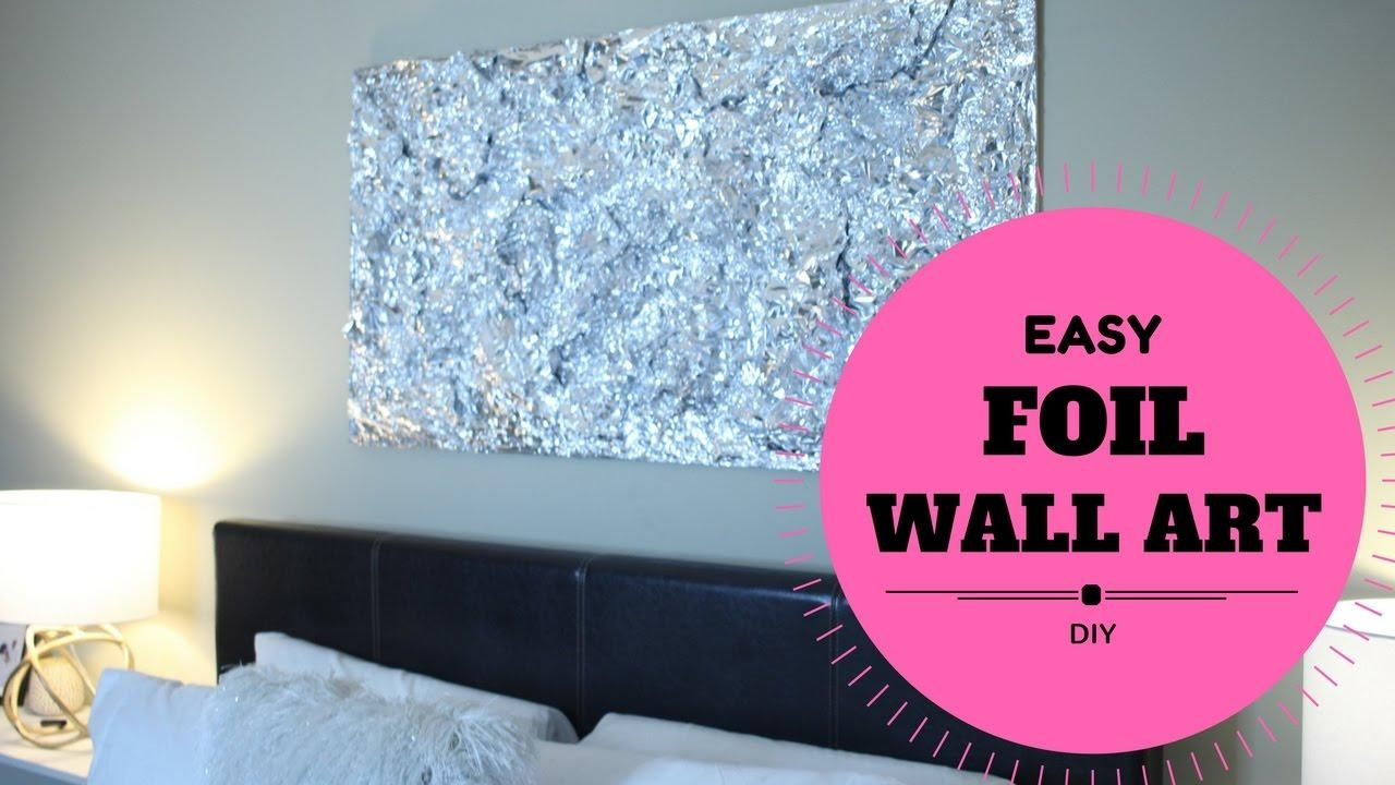 Budget Diy Wall Art Decor For Bedroom (Easy & Cheap) $30 Home Intended For Cheap Wall Art And Decor (View 9 of 20)
