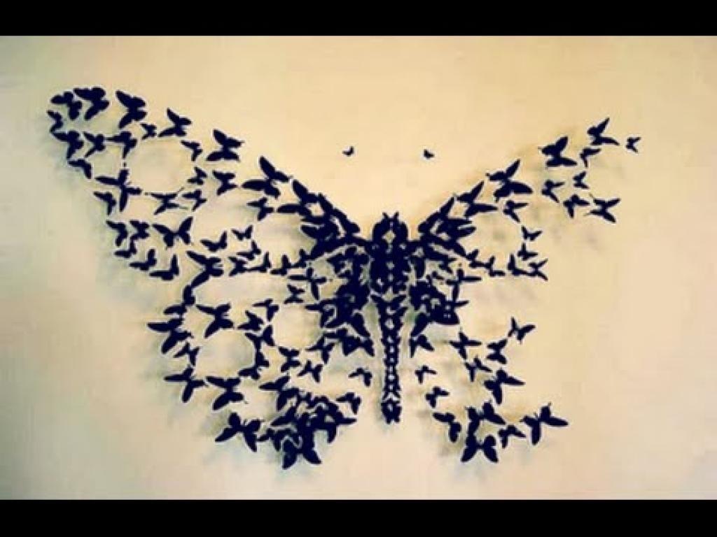 Butterflies Wall Decorations Gossip Girl Wall Art Black Butterfly In Butterflies 3D Wall Art (Image 6 of 20)