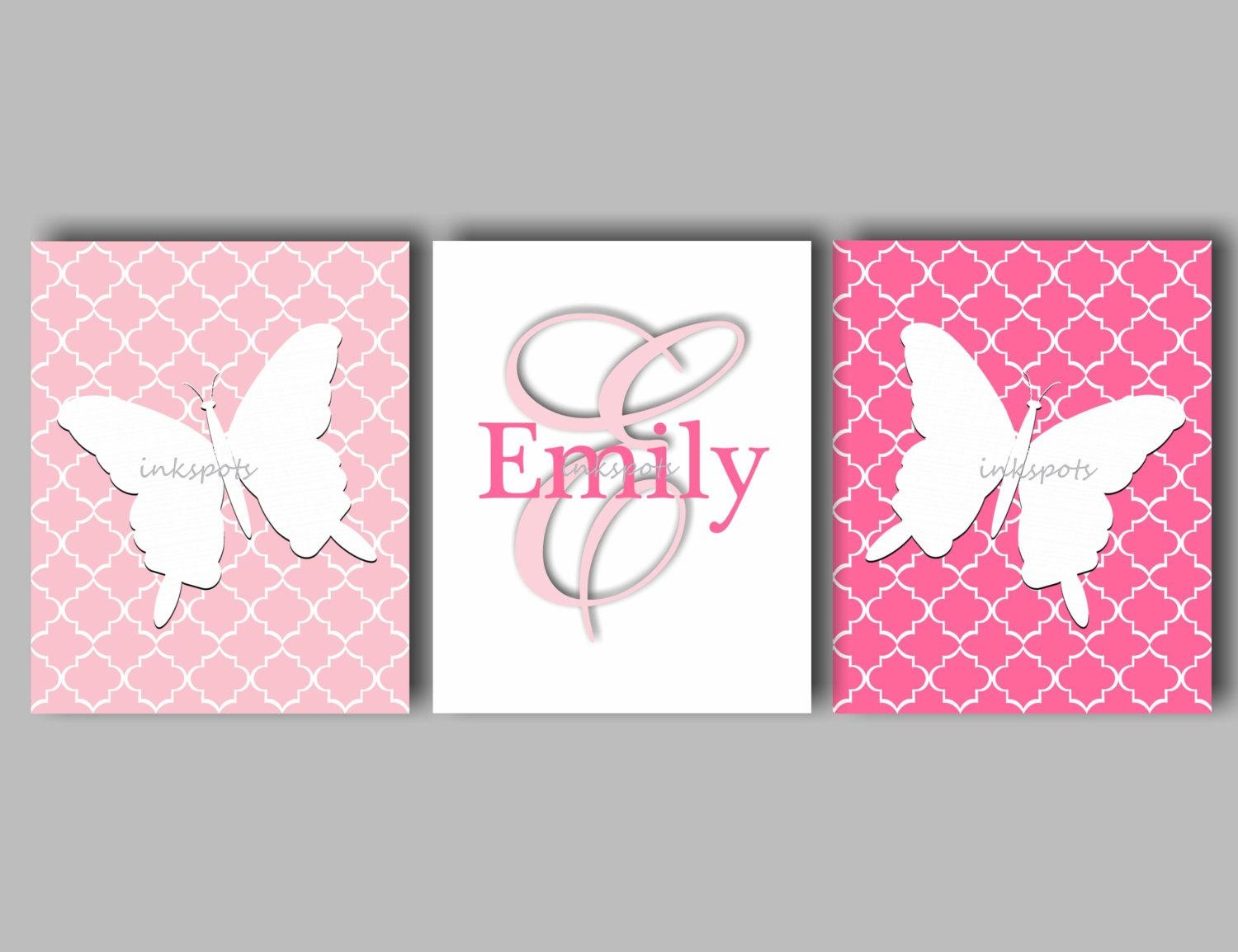 20 collection of pink butterfly wall art wall art ideas for Pink wall art