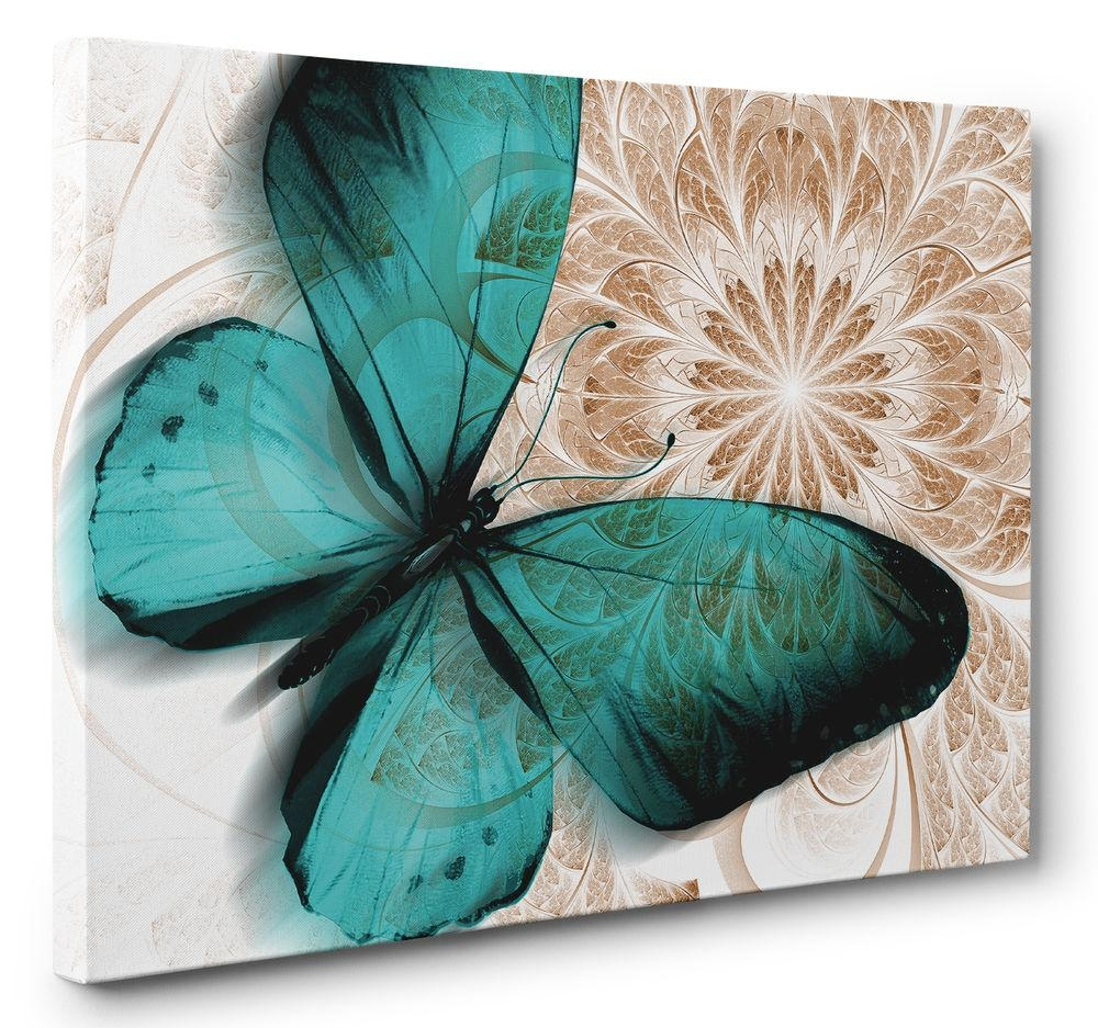 Butterfly Canvas | Ebay Regarding Butterfly Canvas Wall Art (Image 2 of 20)