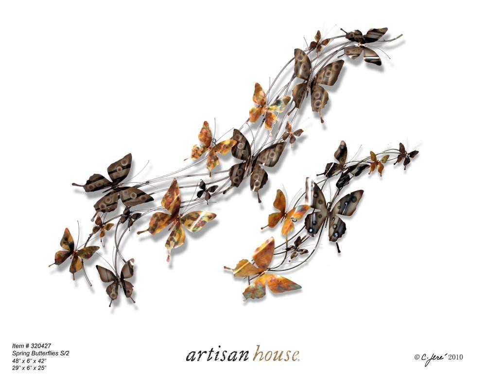 Butterfly External Wall Art | Wallartideas Pertaining To Copper Outdoor Wall Art (Image 4 of 20)