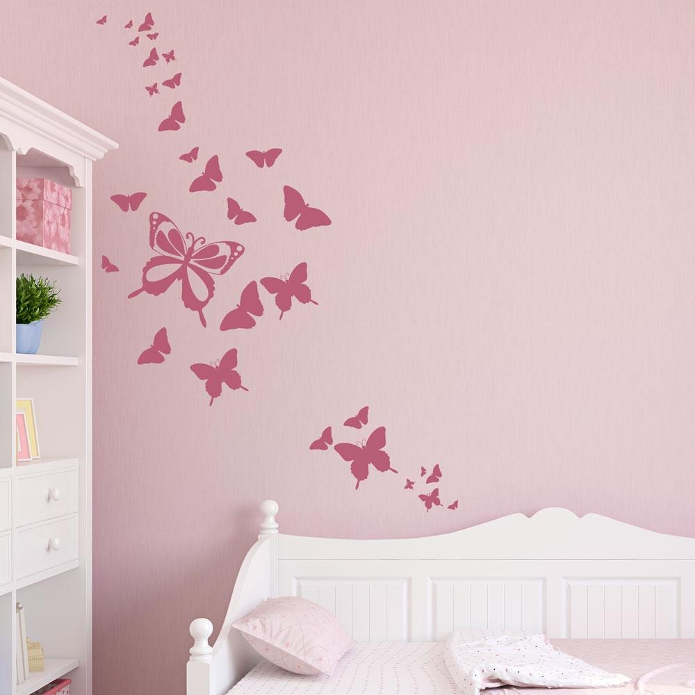 Butterfly Family Wall Decal In Butterflies Wall Art Stickers (View 3 of 20)